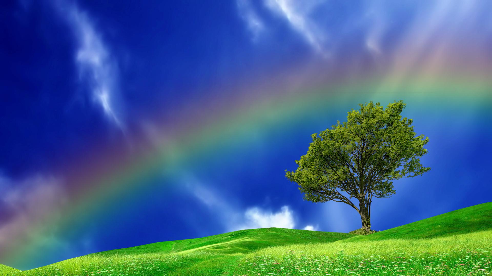 Rainbow In A Blue Sky #23859 Wallpaper   Wallpaper hd