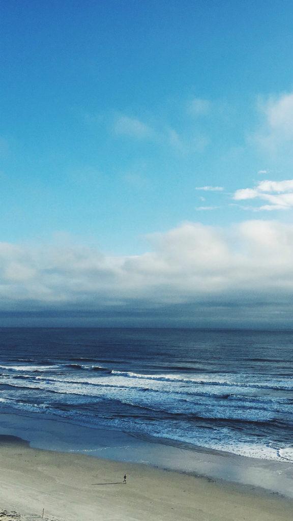 Ocean Blue Sky Cloud Nature #iPhone #6 #plus #wallpaper