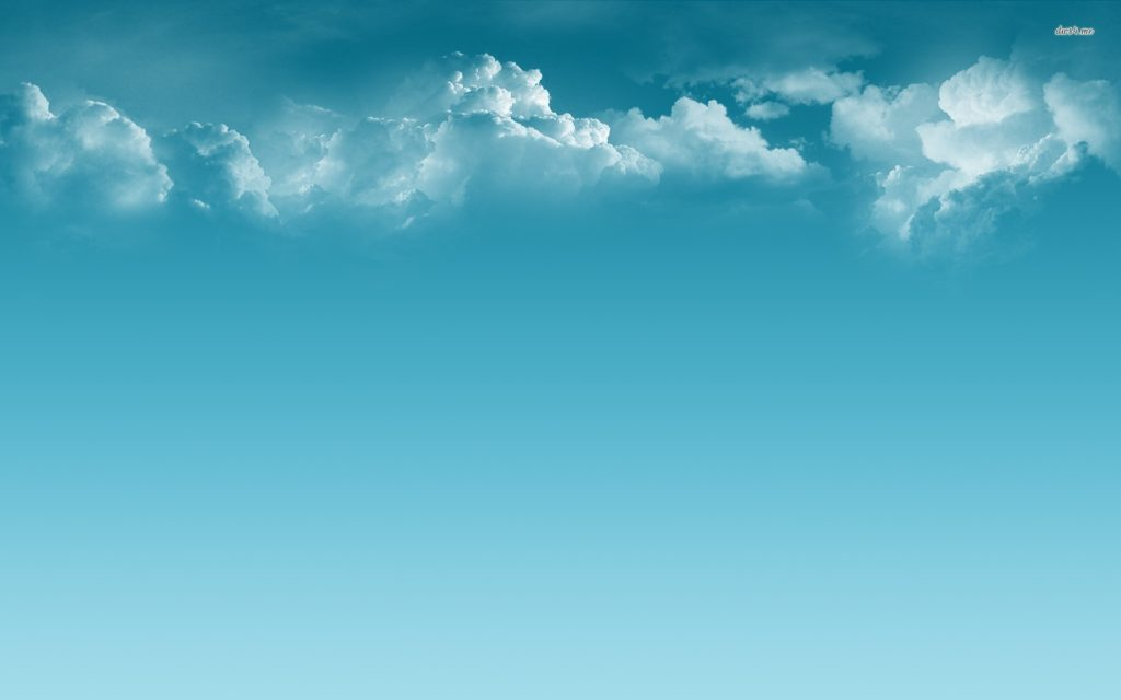 Clouds and blue sky wallpaper .