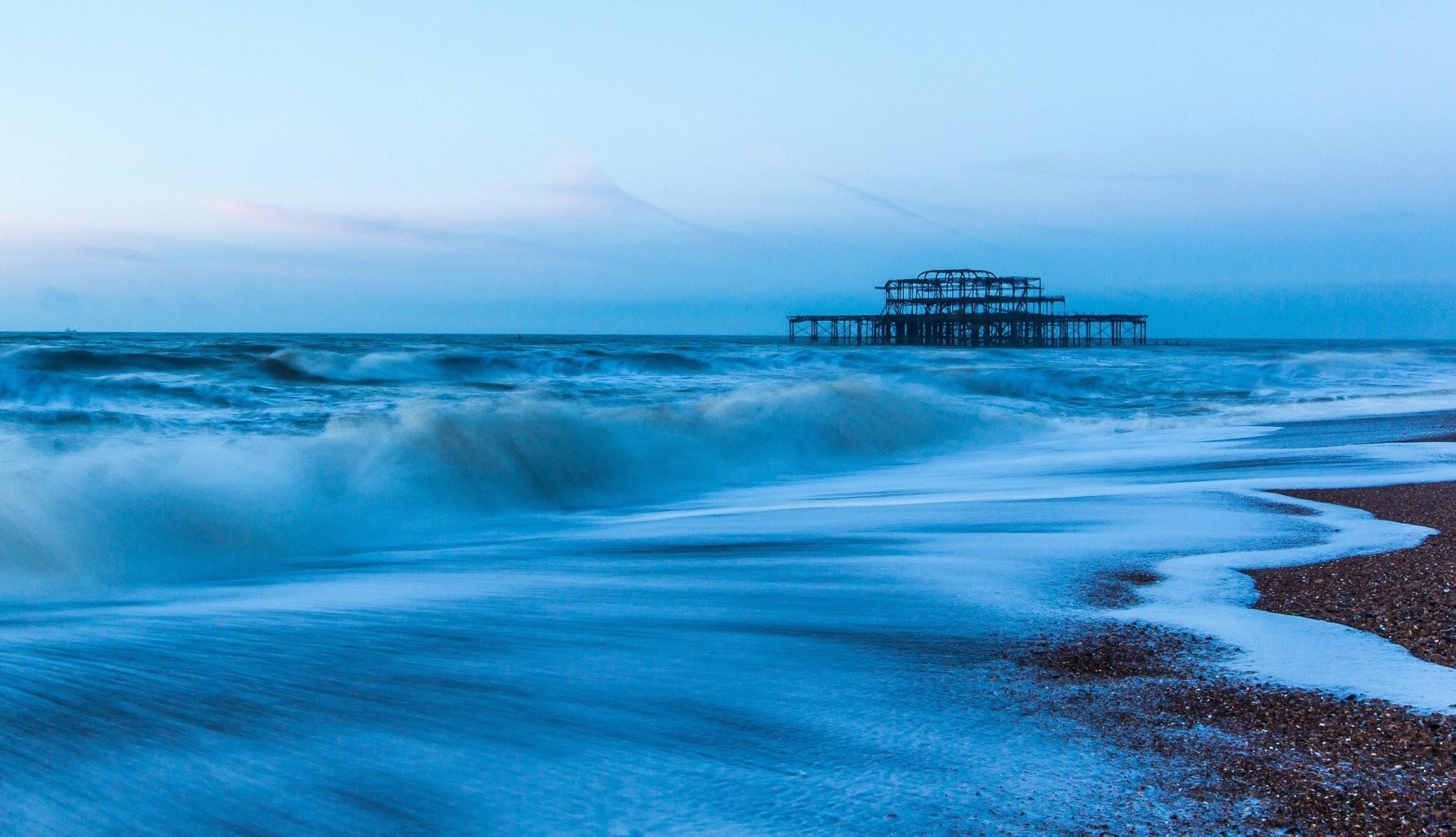 landscape nature sea water wave river sea ocean blue sky background  wallpaper widescreen full screen widescreen
