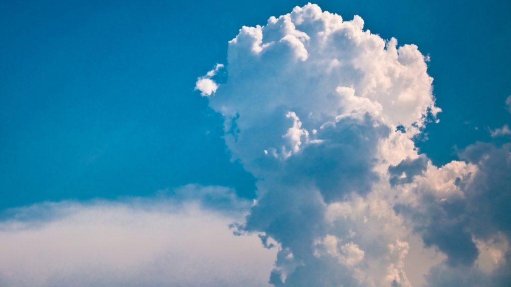 Wallpaper cloud, volume, white, blue, sky, column