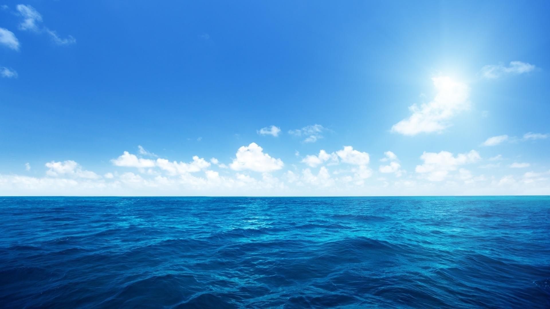 Earth – Ocean Earth Horizon Blue Sky Wallpaper
