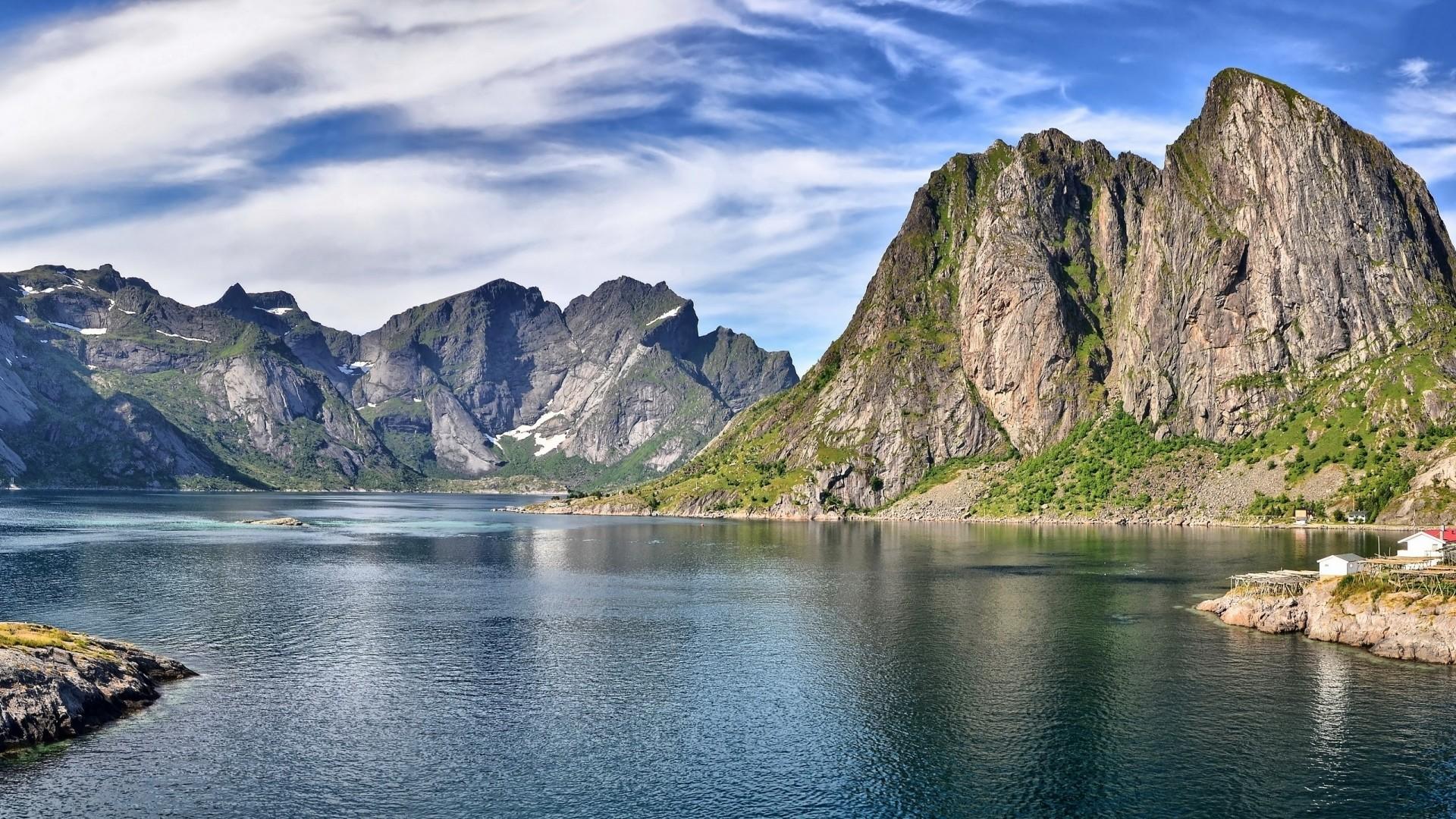 Wallpaper mountain, sky, lake, summer