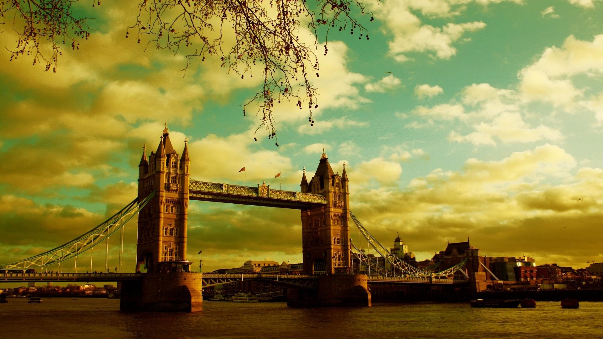 Wallpaper london, bridge, river, sky, summer