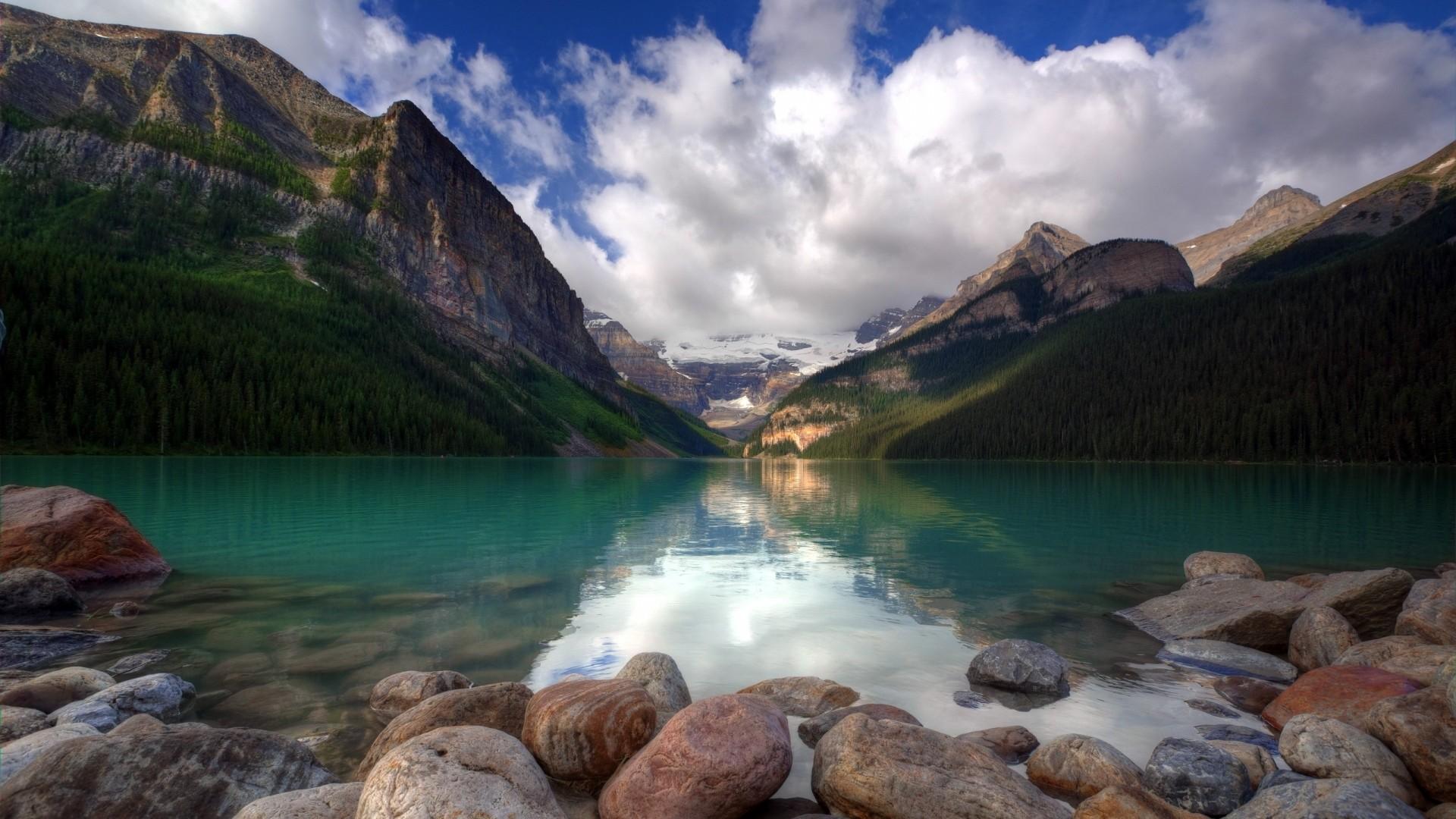 Wallpaper sea, stones, summer, mountains, beautiful