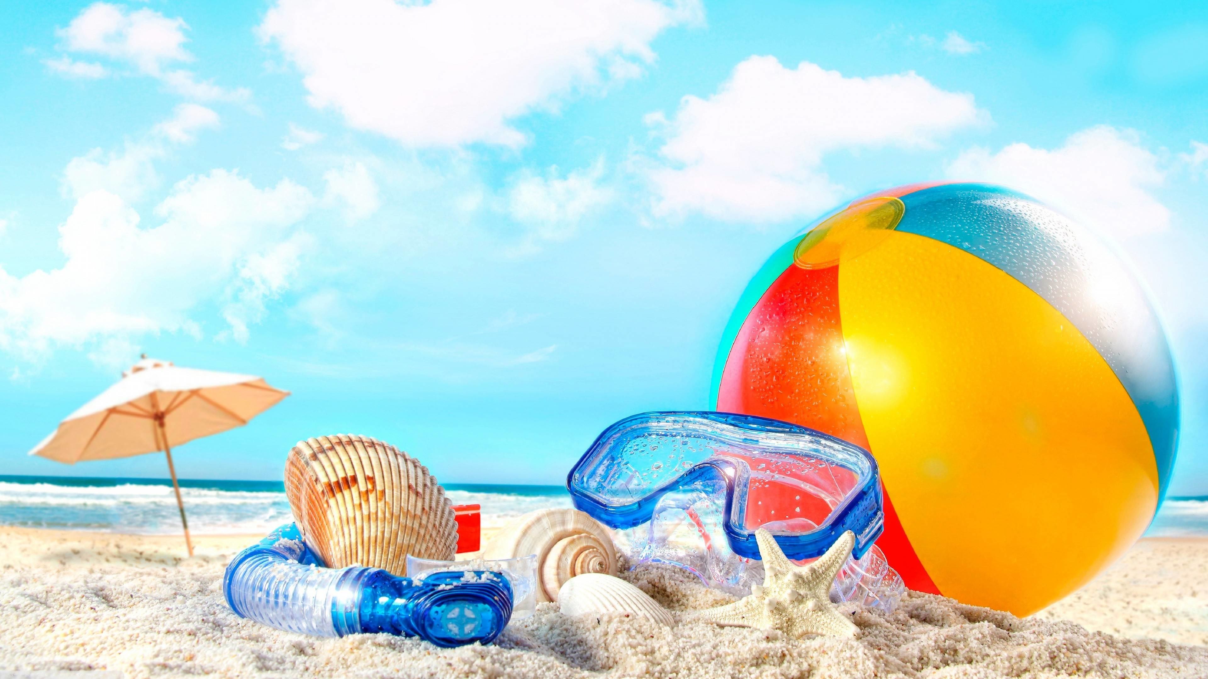 Summer Holliday in the Beach Wallpaper 1080p Free Download.