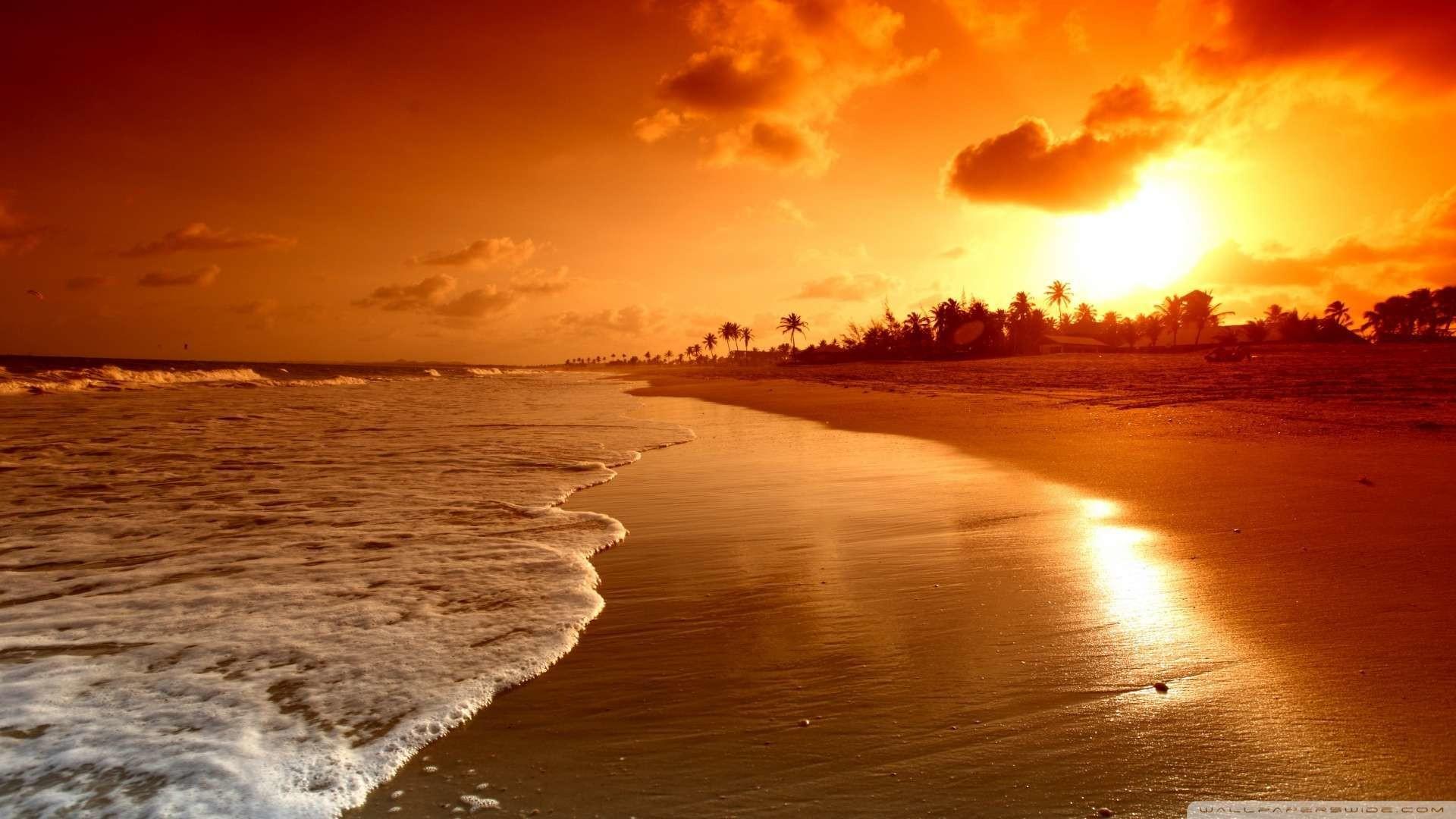 Wallpaper: Beach Sunrise Wallpaper 1080p HD. Upload at February 2 .