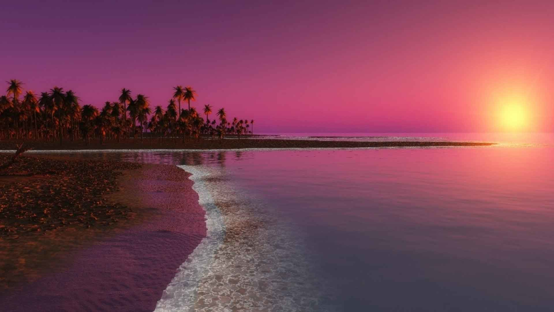 Sunrise Sunset Ocean Reflection Water Beach HD Wallpapers 1080p Widescreen  Nature Free Download