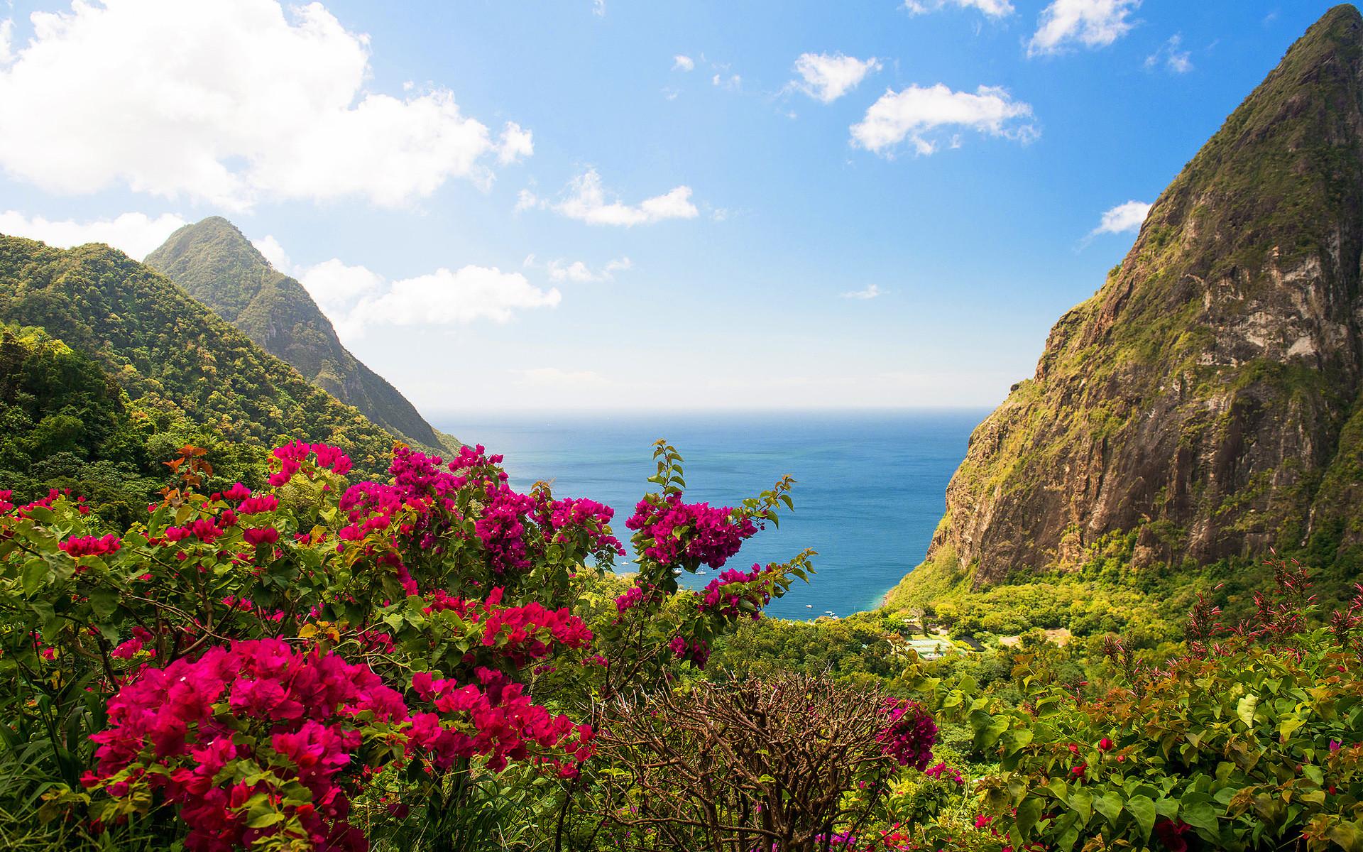 India Island Mountain Landscape