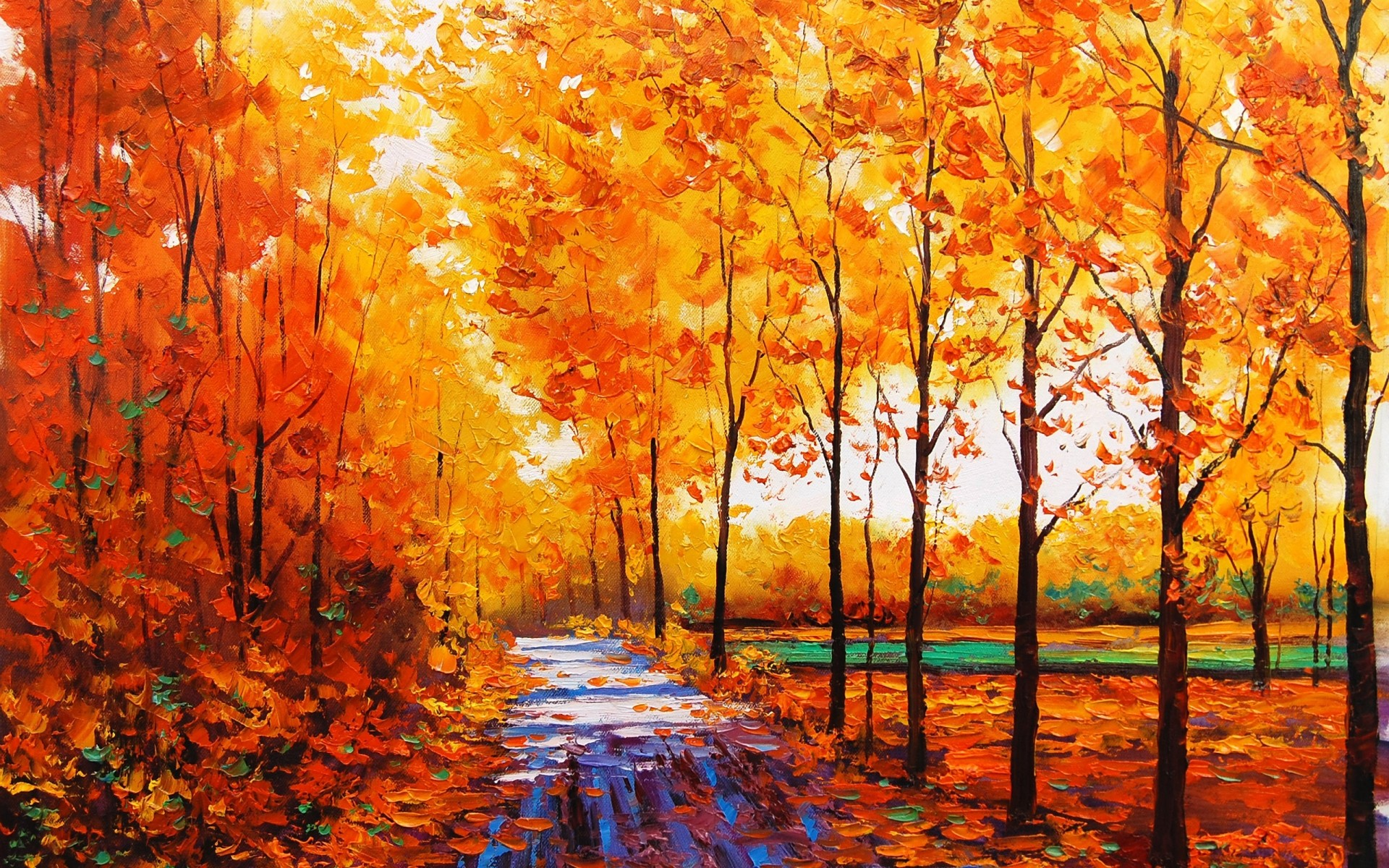 … Incredible Fall Colors Painting Tittle …