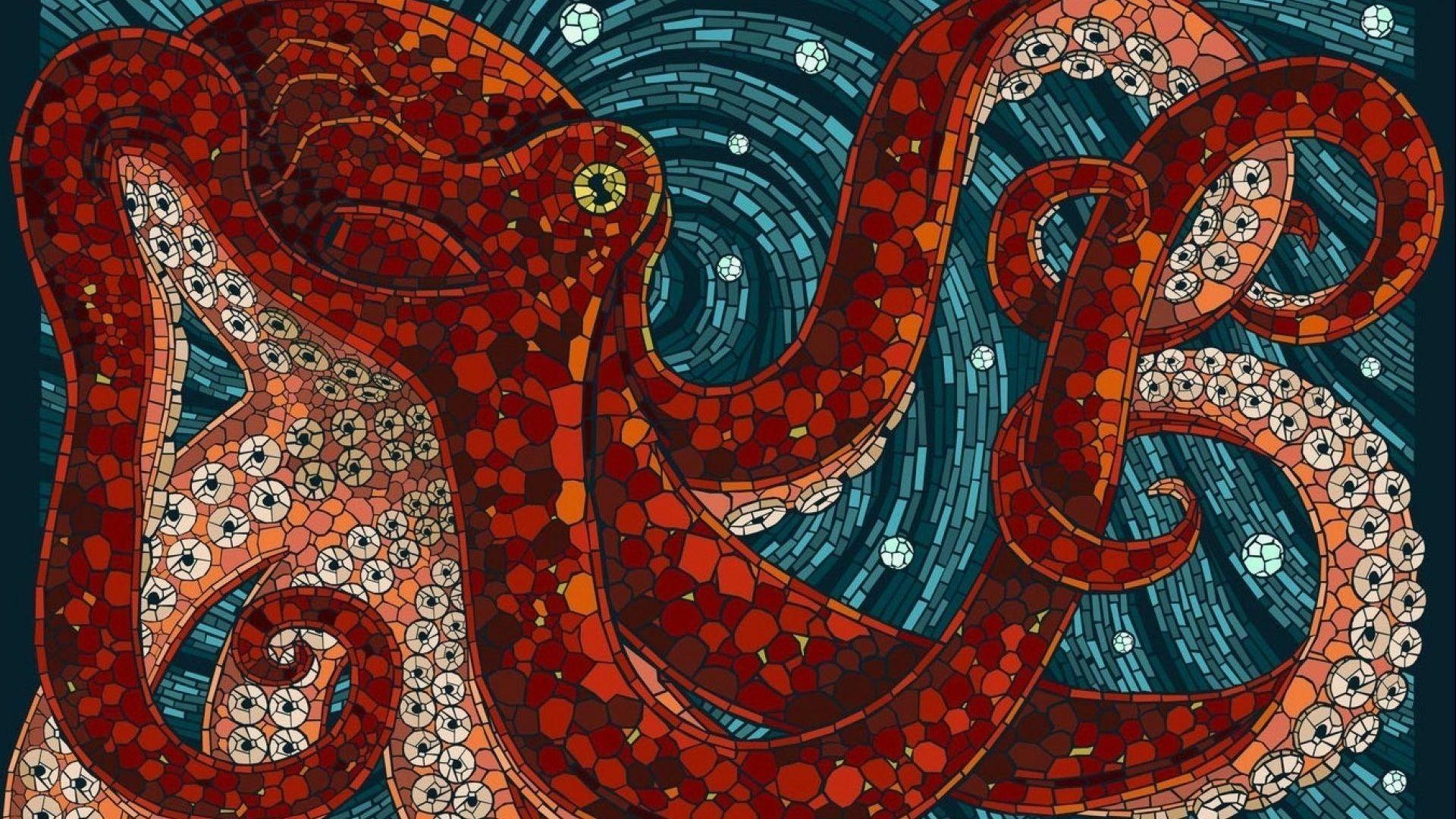 … hd wallpaper – Fishes Sealife Octopus Ocean Sea Underwater Art Artwork  Koi Fish. Download