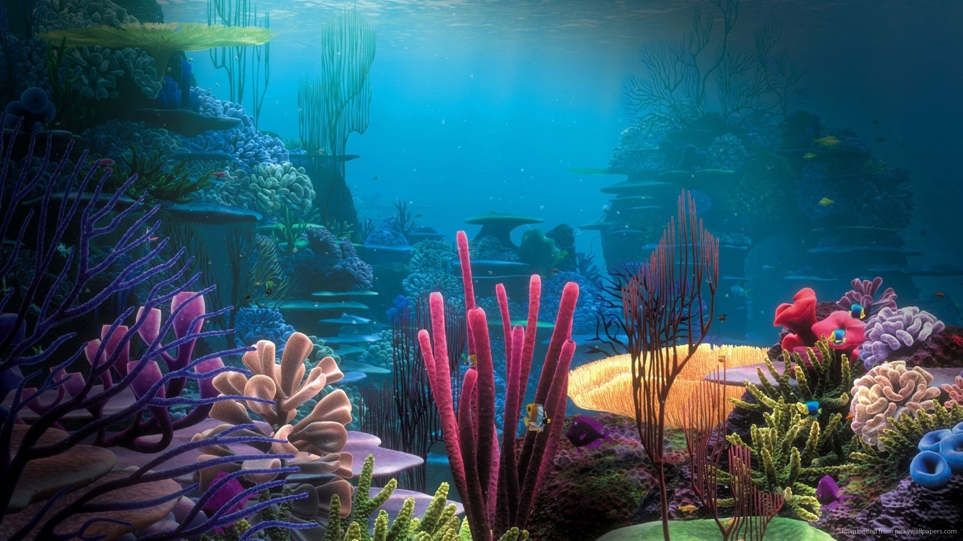 1366×768 Finding Nemo Coral Reef Wallpaper wallpaper