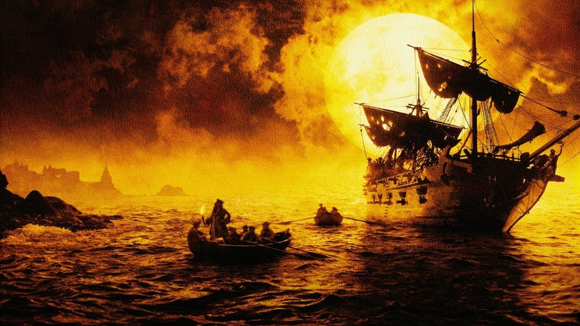 Movie – Pirates Of The Caribbean: The Curse Of The Black Pearl Pirate  Wallpaper
