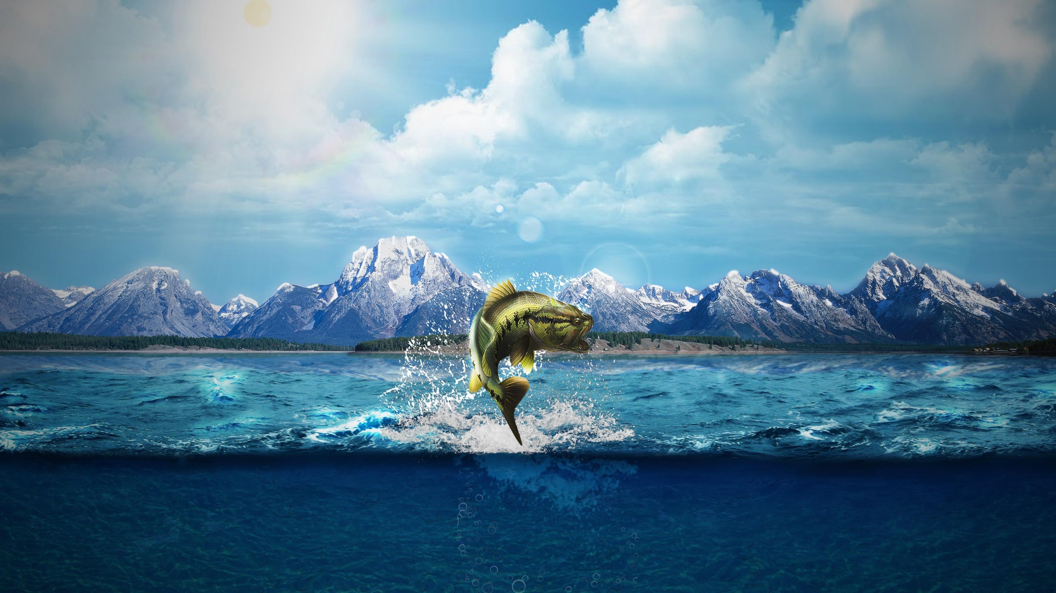 nature, Natural Lighting, Sea, Sea Monsters, Fish, Horizon, Deep Sea,  Mountain, Mount Everest, Word Clouds, Split View Wallpapers HD / Desktop  and Mobile …