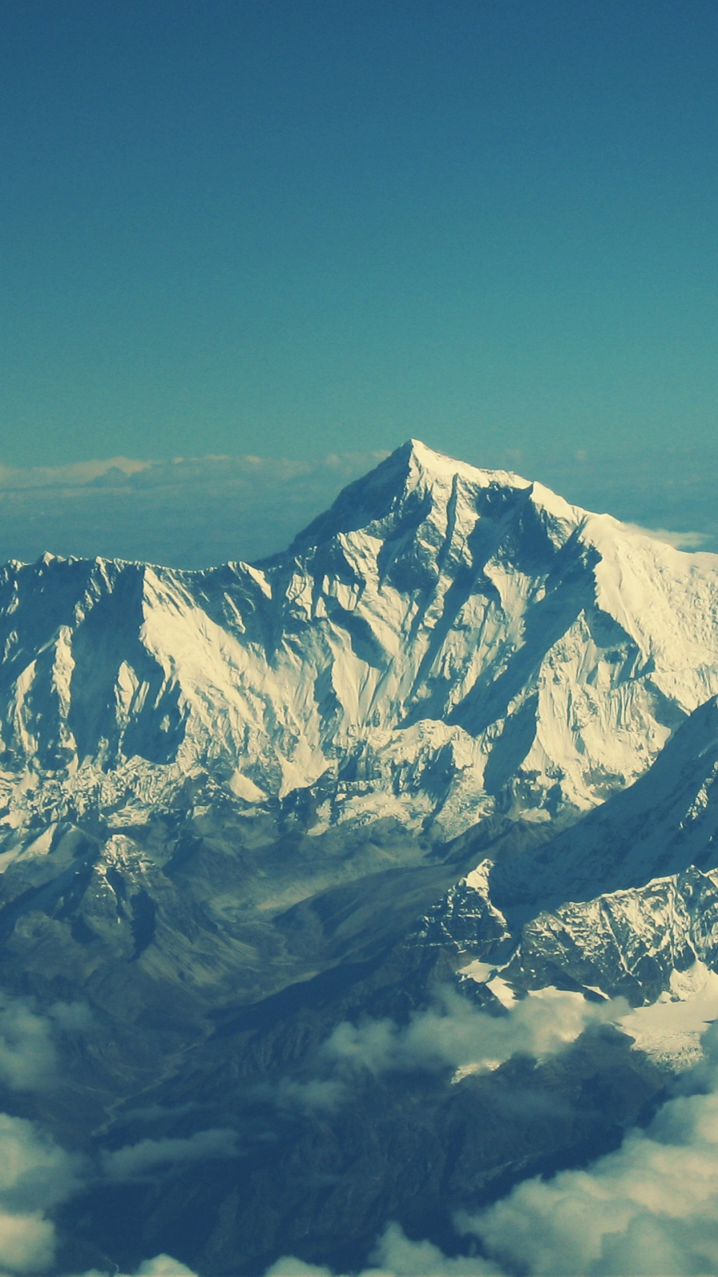 Preview wallpaper everest, mountain, sky, tops 1440×2560