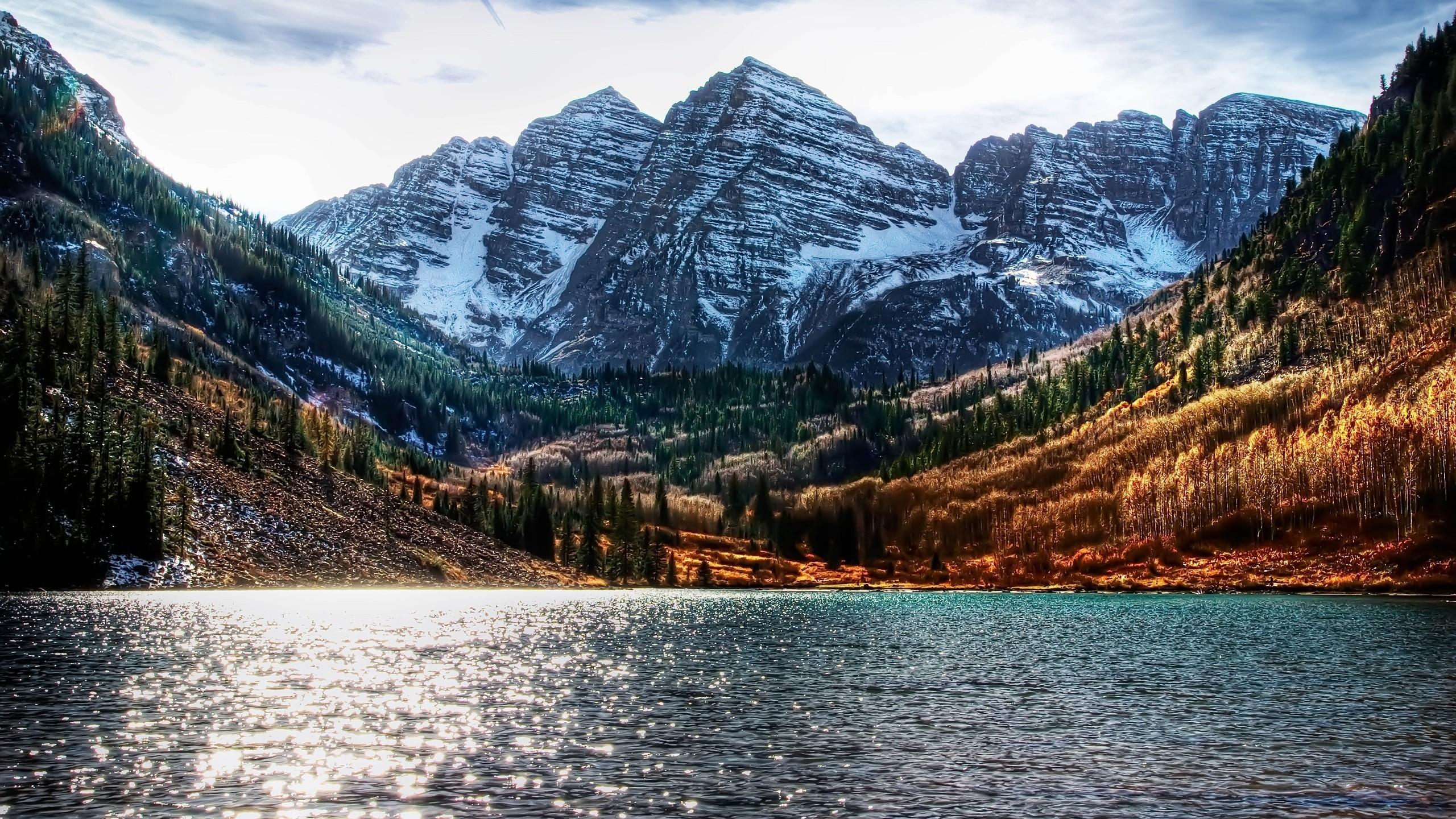File Name: colorado-scenery-wallpaper-wallpaper-4.jpg. Text: Colorado  Mountain Lake. Cool Mount Everest HD Wallpaper
