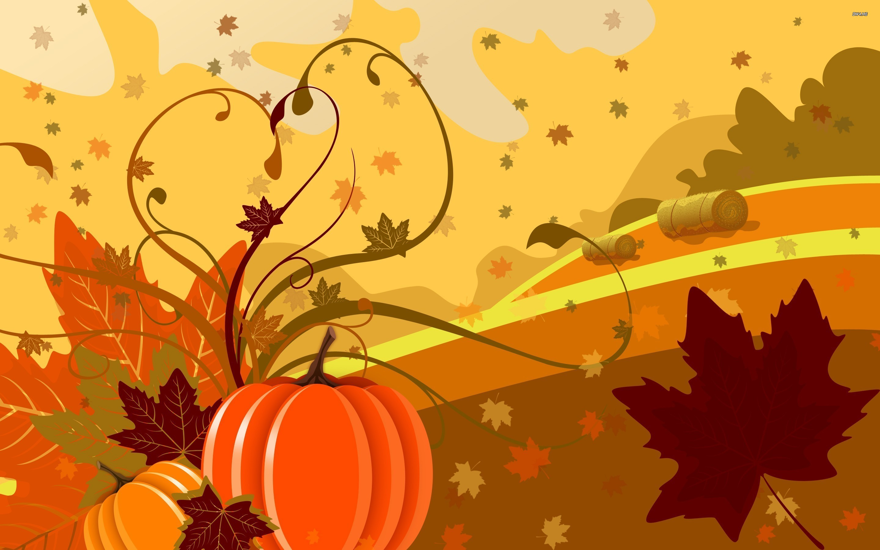 Fall Leaves And Pumpkin Wallpaper Images & Pictures – Becuo