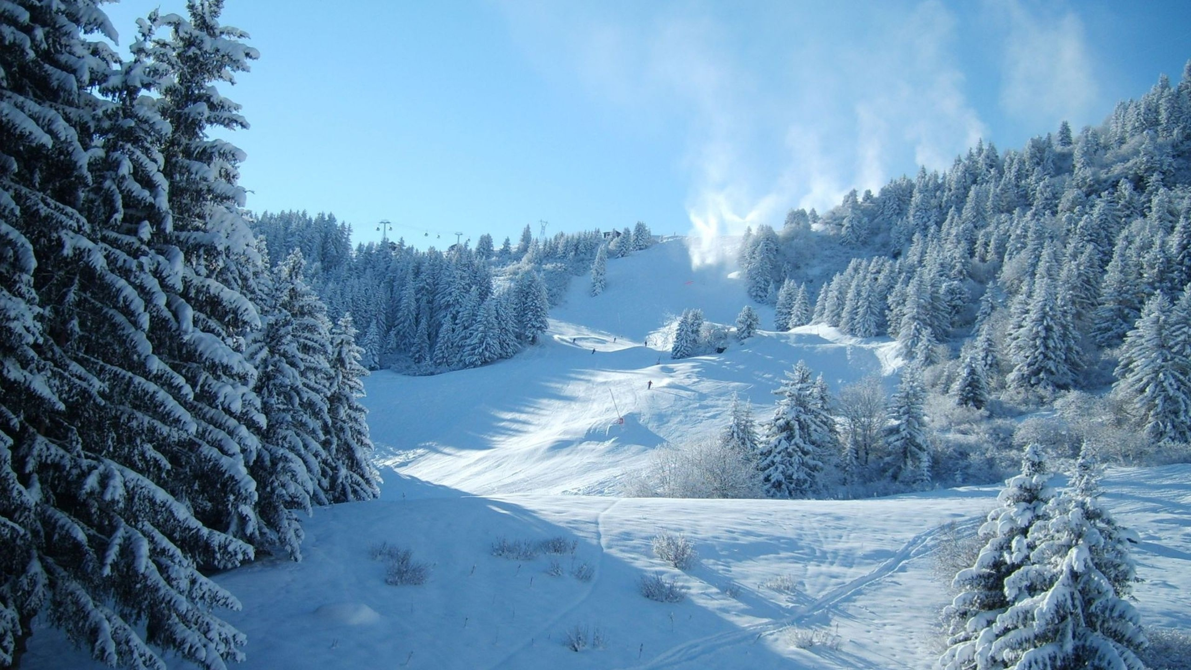 Wallpaper mountains, snow, winter