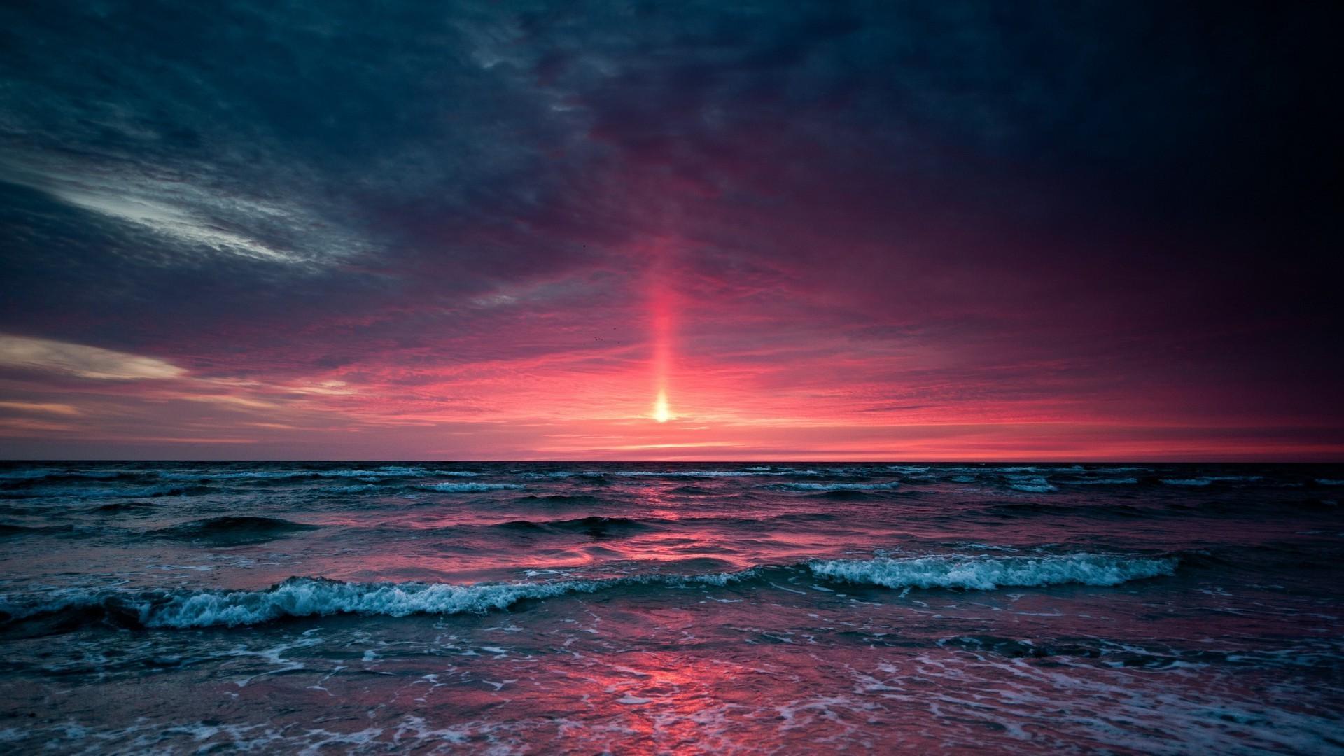 Red sunrise Beach HD desktop wallpaper, Sky wallpaper, Sunrise wallpaper, Ocean  wallpaper – Beaches no.