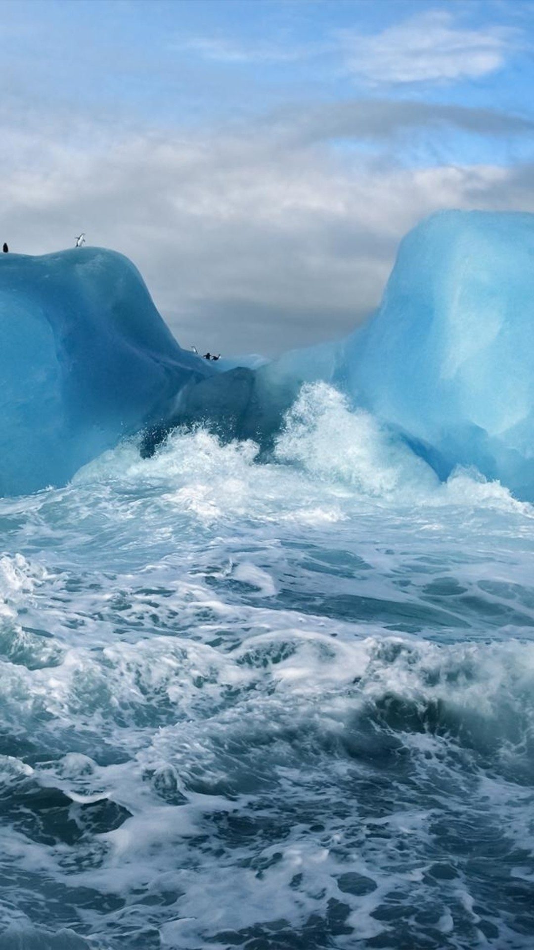 … BlueOceaniPhone6Wallpapers Iphone Ocean Wallpaper Ocean Surging Wave  Penguin Iceberg iphone 6 wallpaper ilikewallpaper_com …