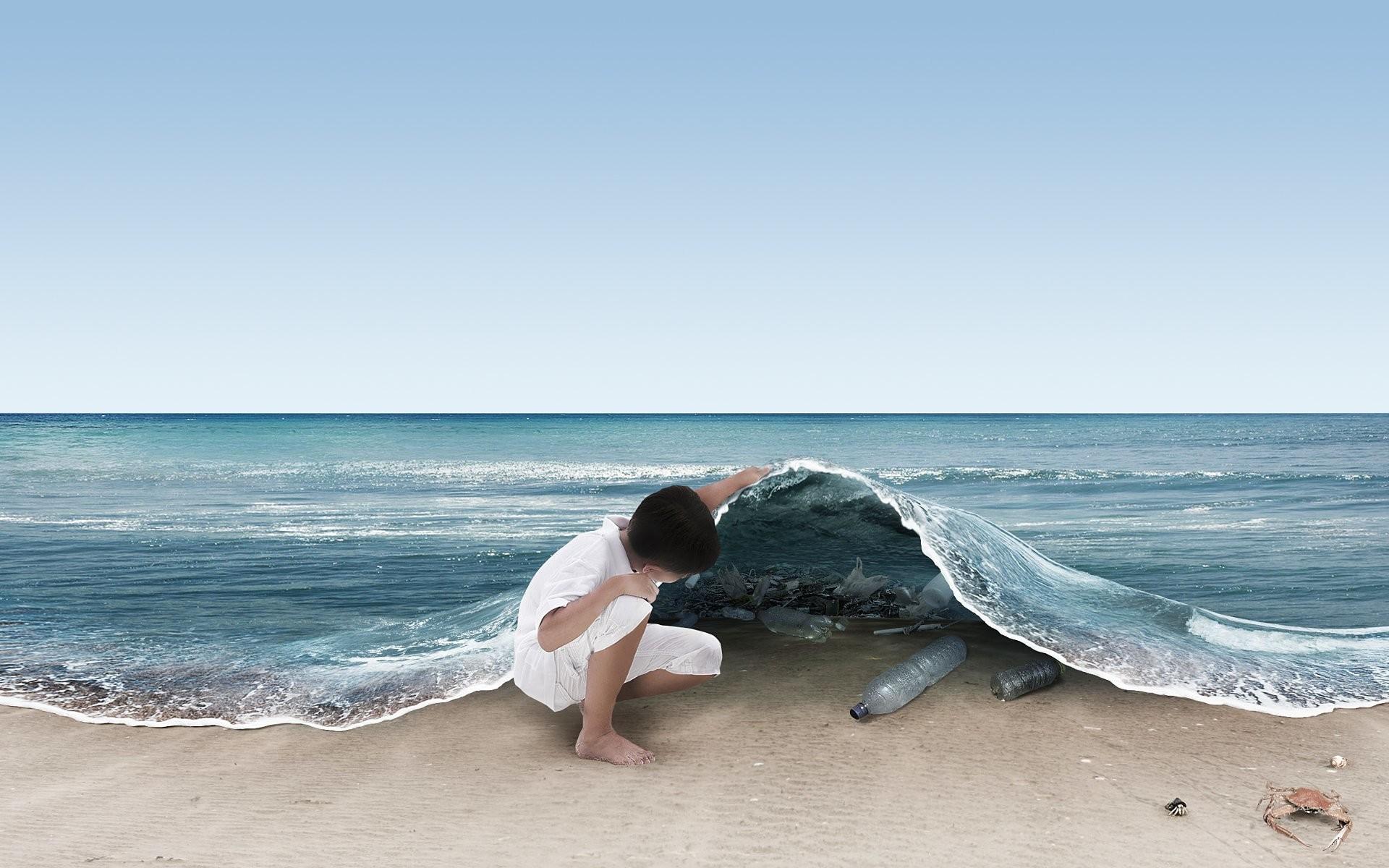 Artistisk – Ocean Bakgrund