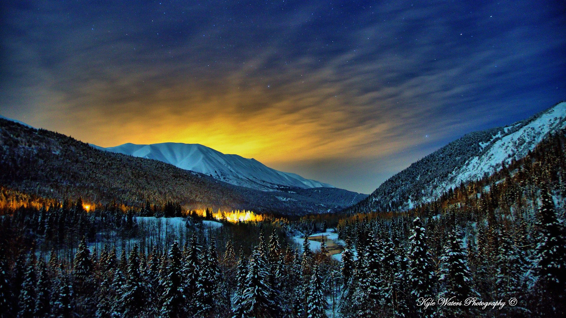Alaska Winter Nights Wallpapers   HD Wallpapers