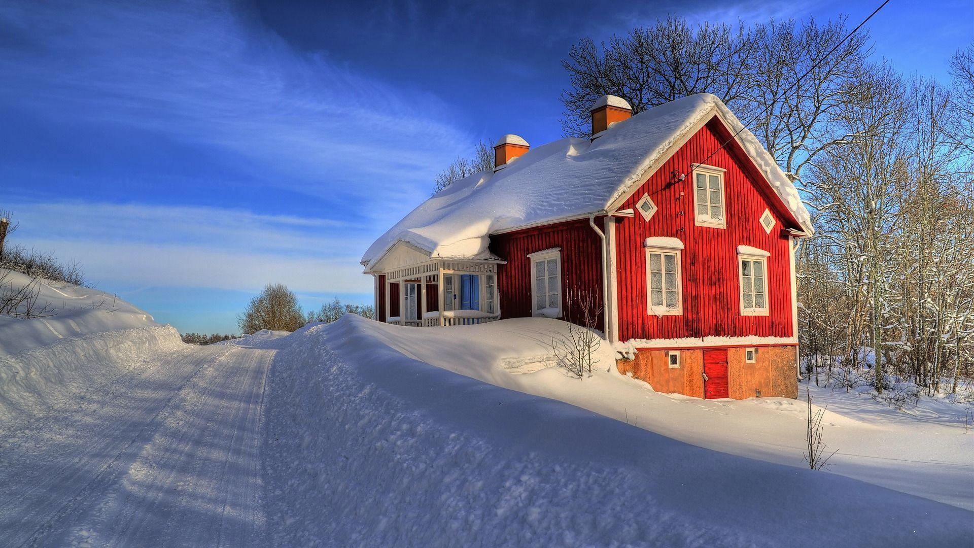 wallpaper.wiki-House-Between-Snow-HD-1920x1080p-Wallpaper-