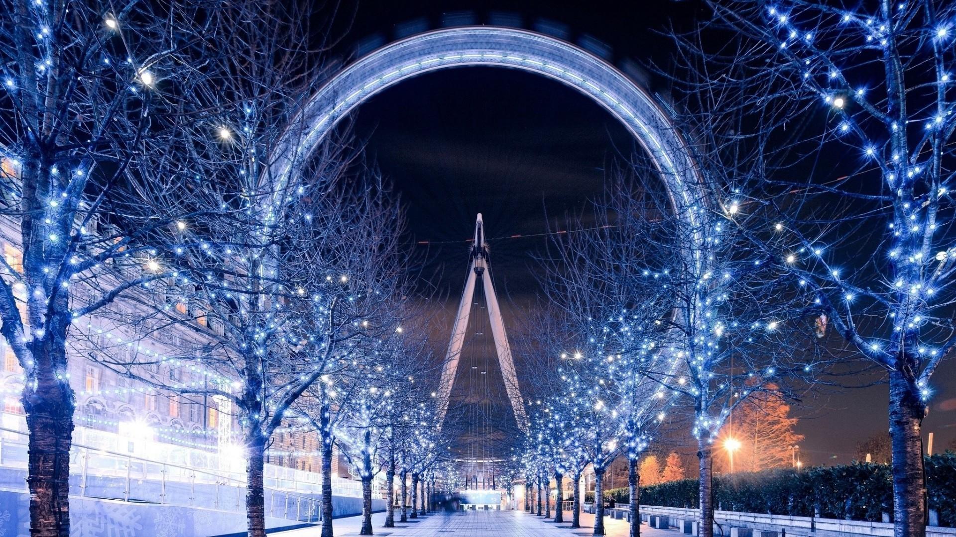 Wallpaper london eye, ferris wheel, london, winter, beautiful