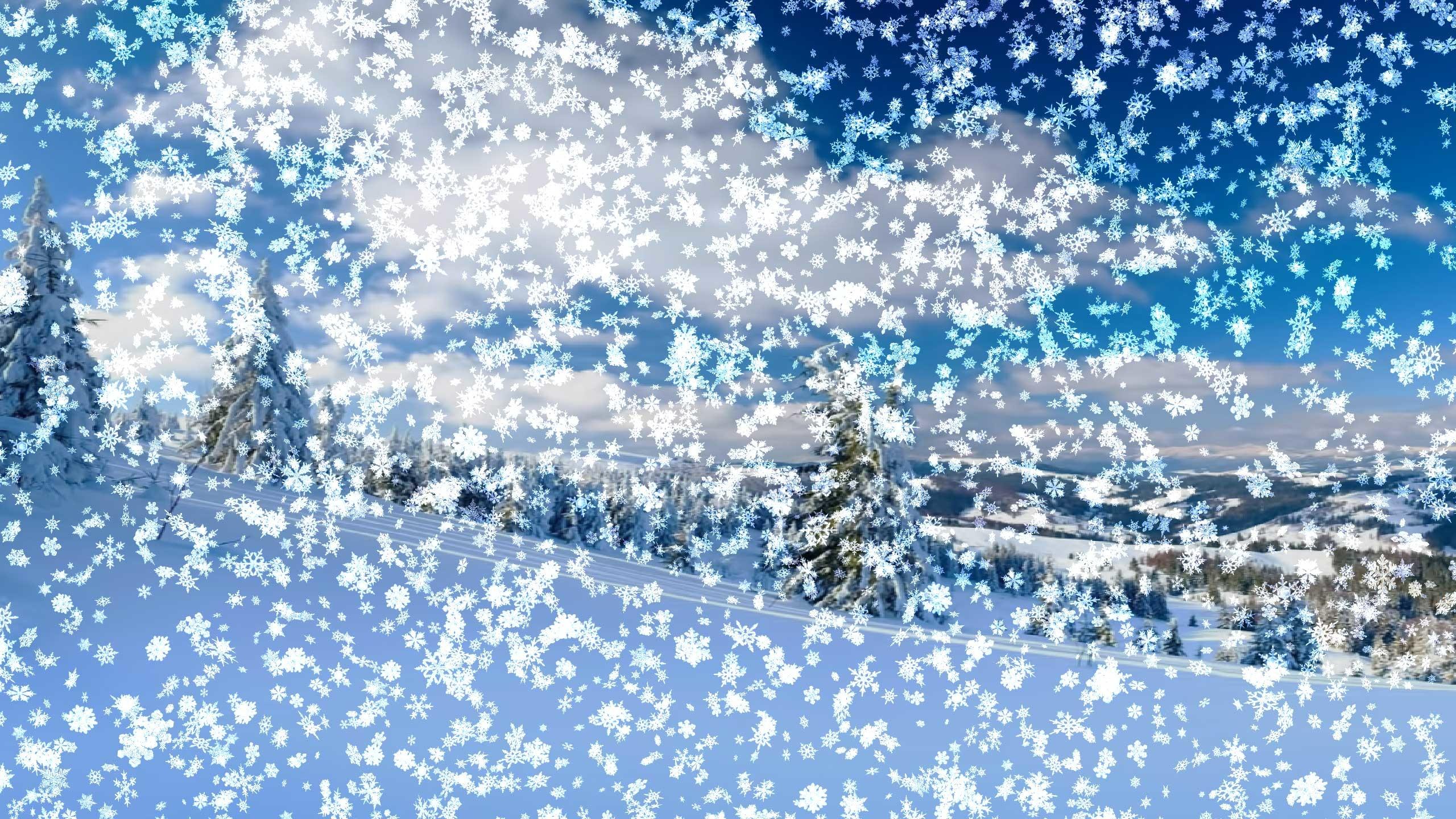 мерцающие картинки снегопад видео