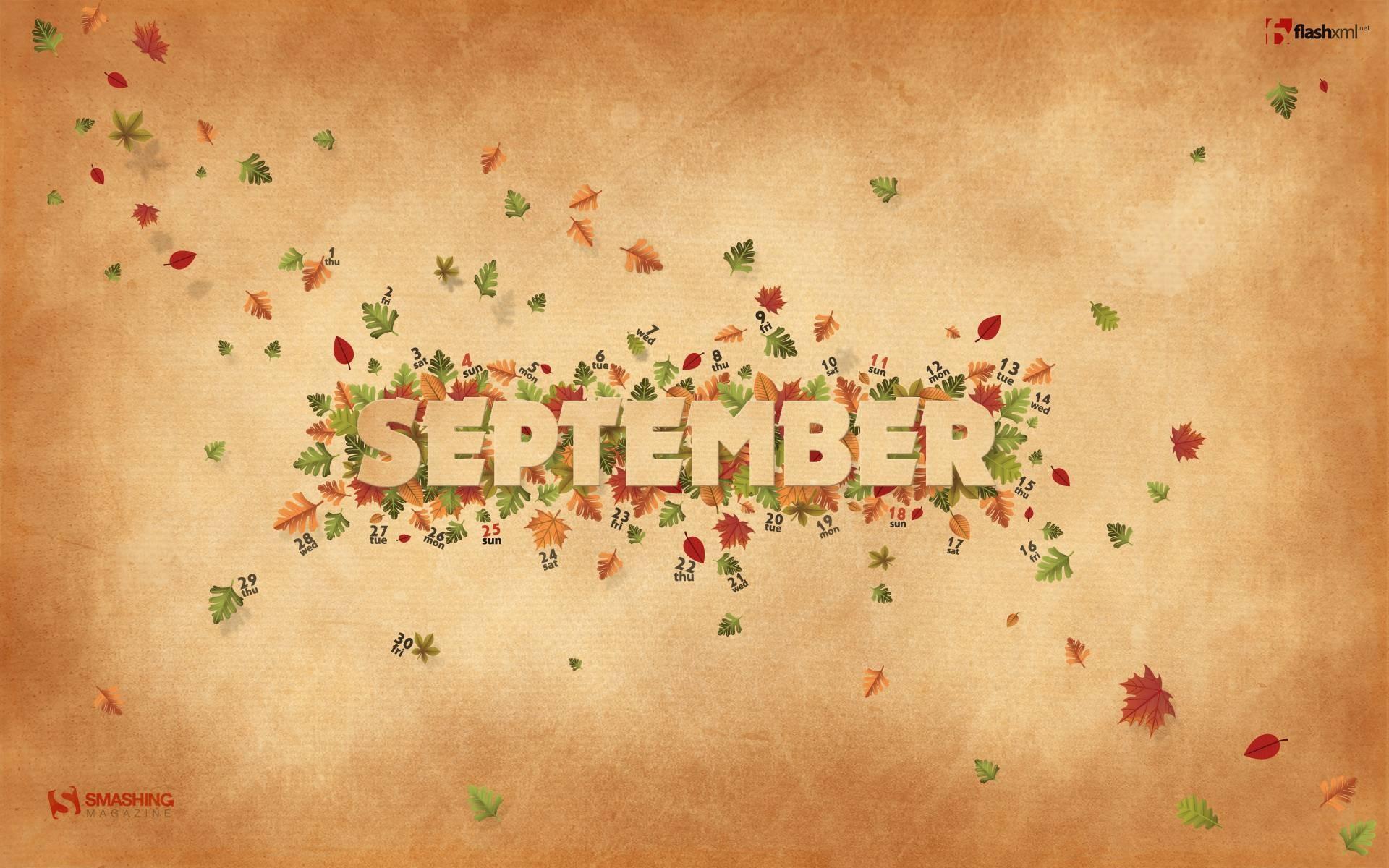 September Screensavers and Wallpaper. Wallpapers, September Fall Leaves  Myspace Backgrounds, September .