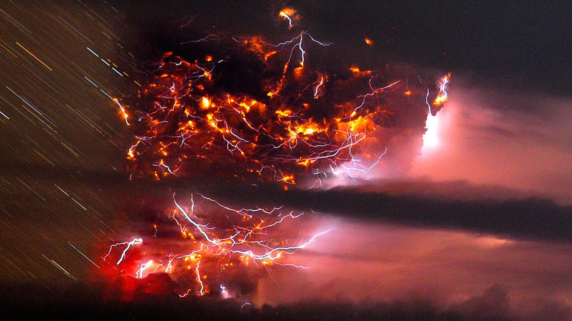 Lightning Storm Volcano