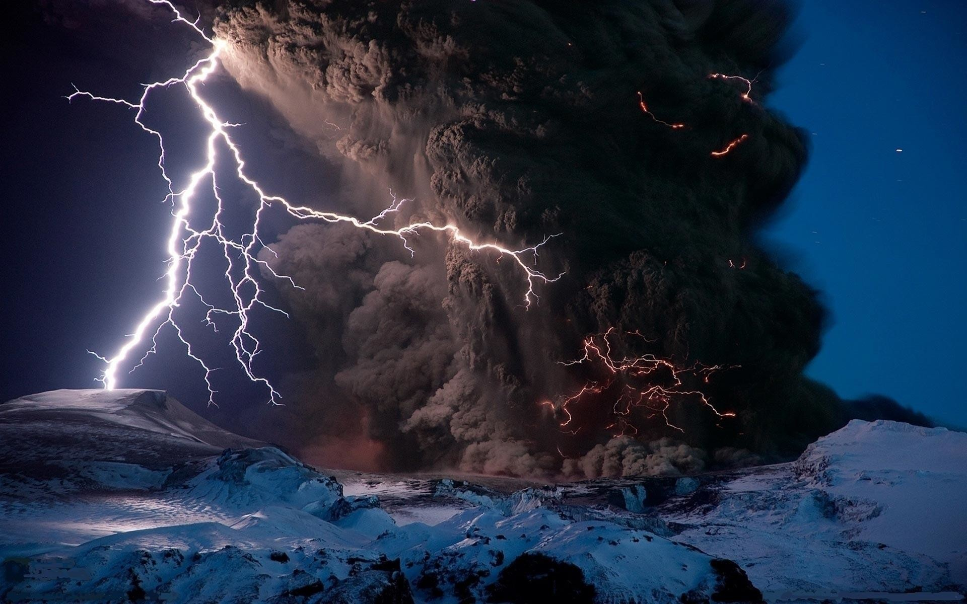 … lightning strikes volcano wallpaper by hd wallpapers daily …