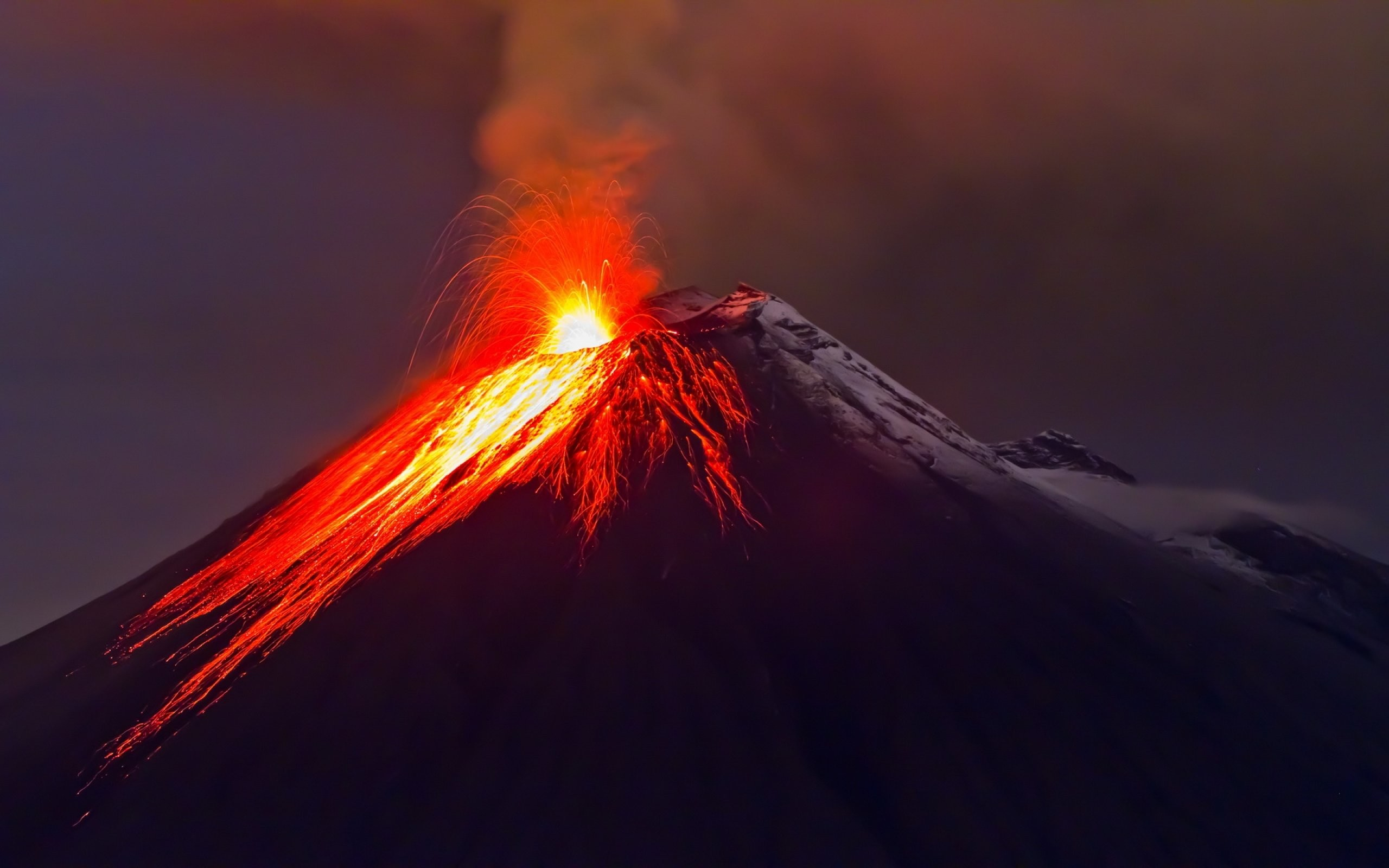 Volcano Eruption Lightning HD desktop wallpaper High Definition