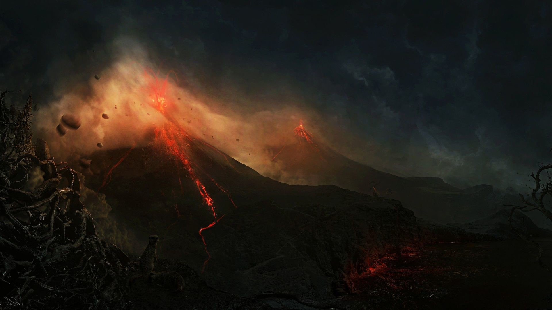 Volcano eruption HD Wallpaper Volcano …