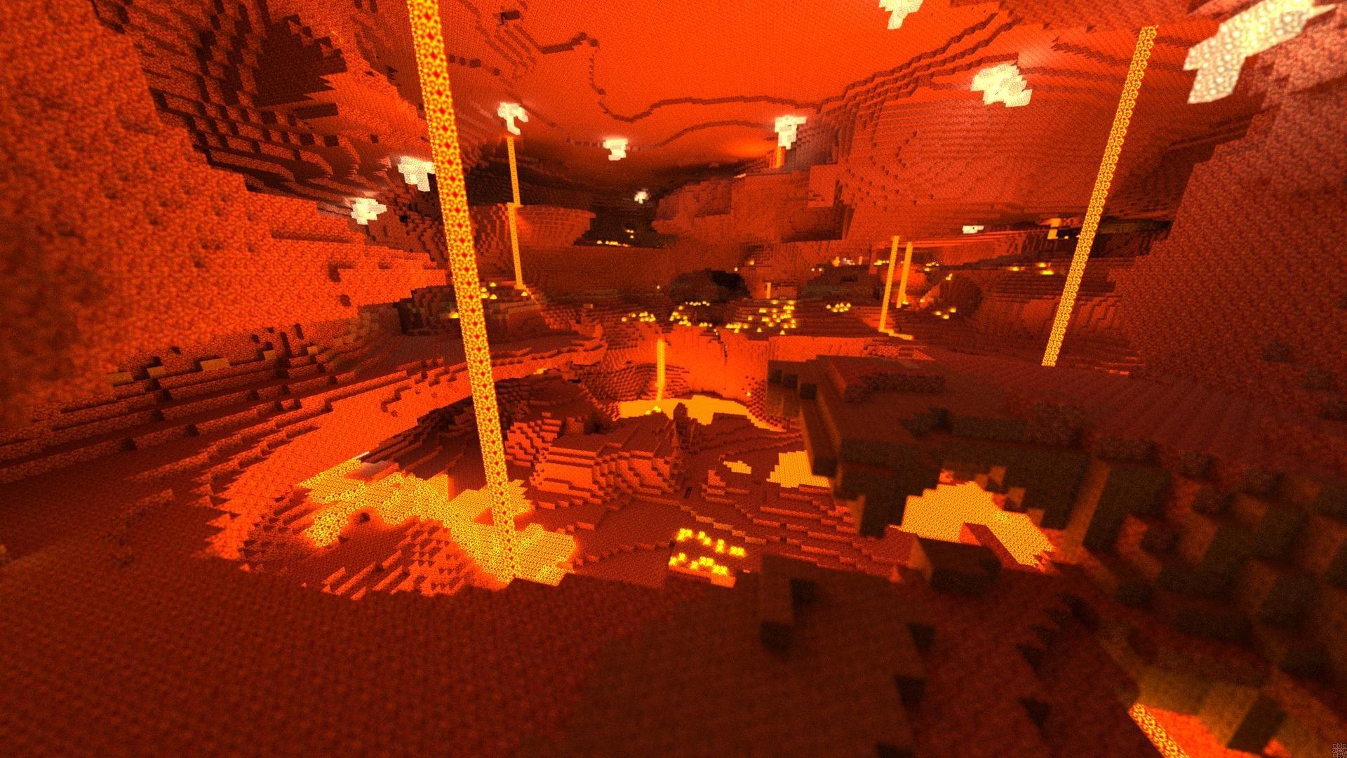 Minecraft Volcano Wallpaper