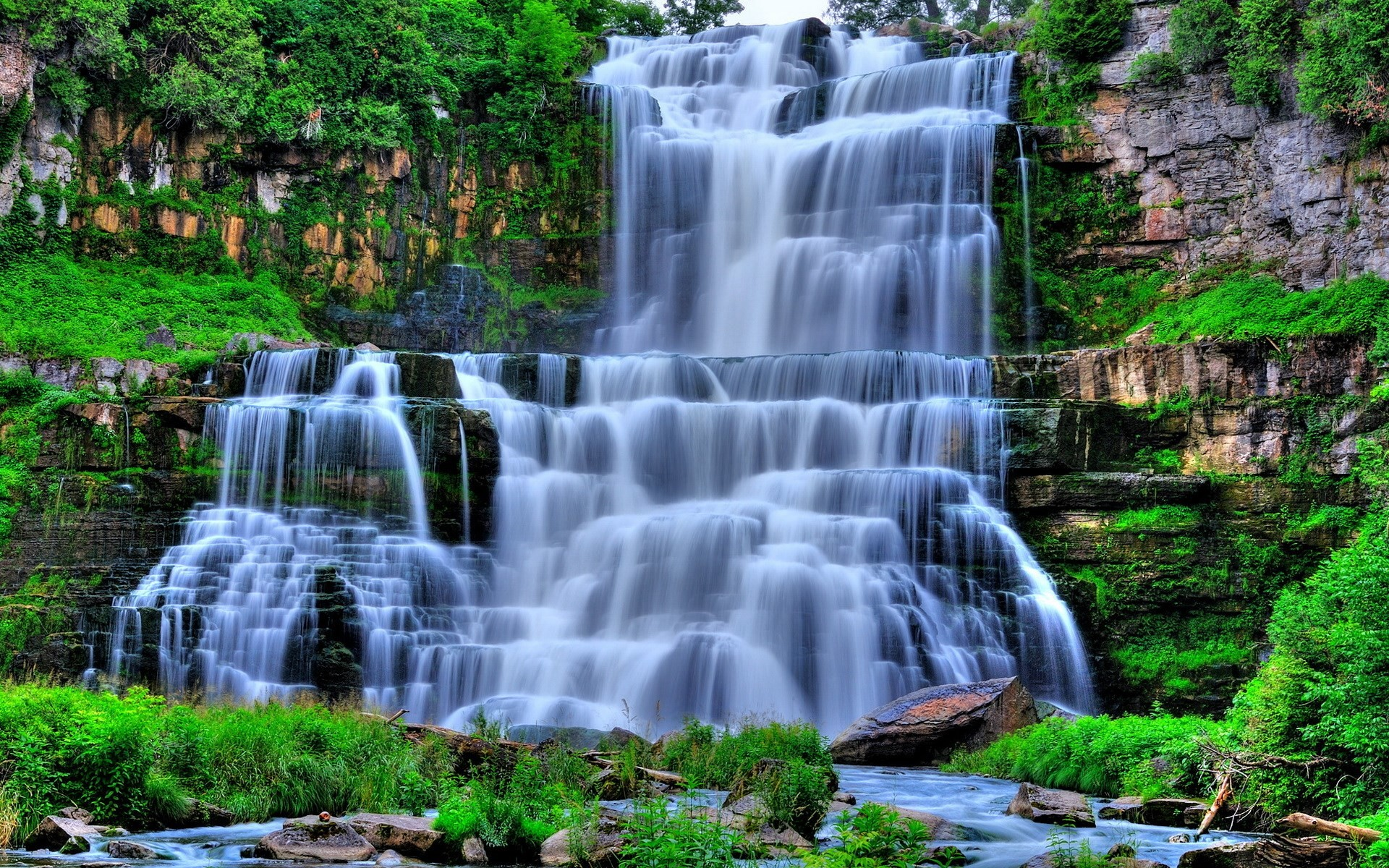 waterfall background wallpaper free