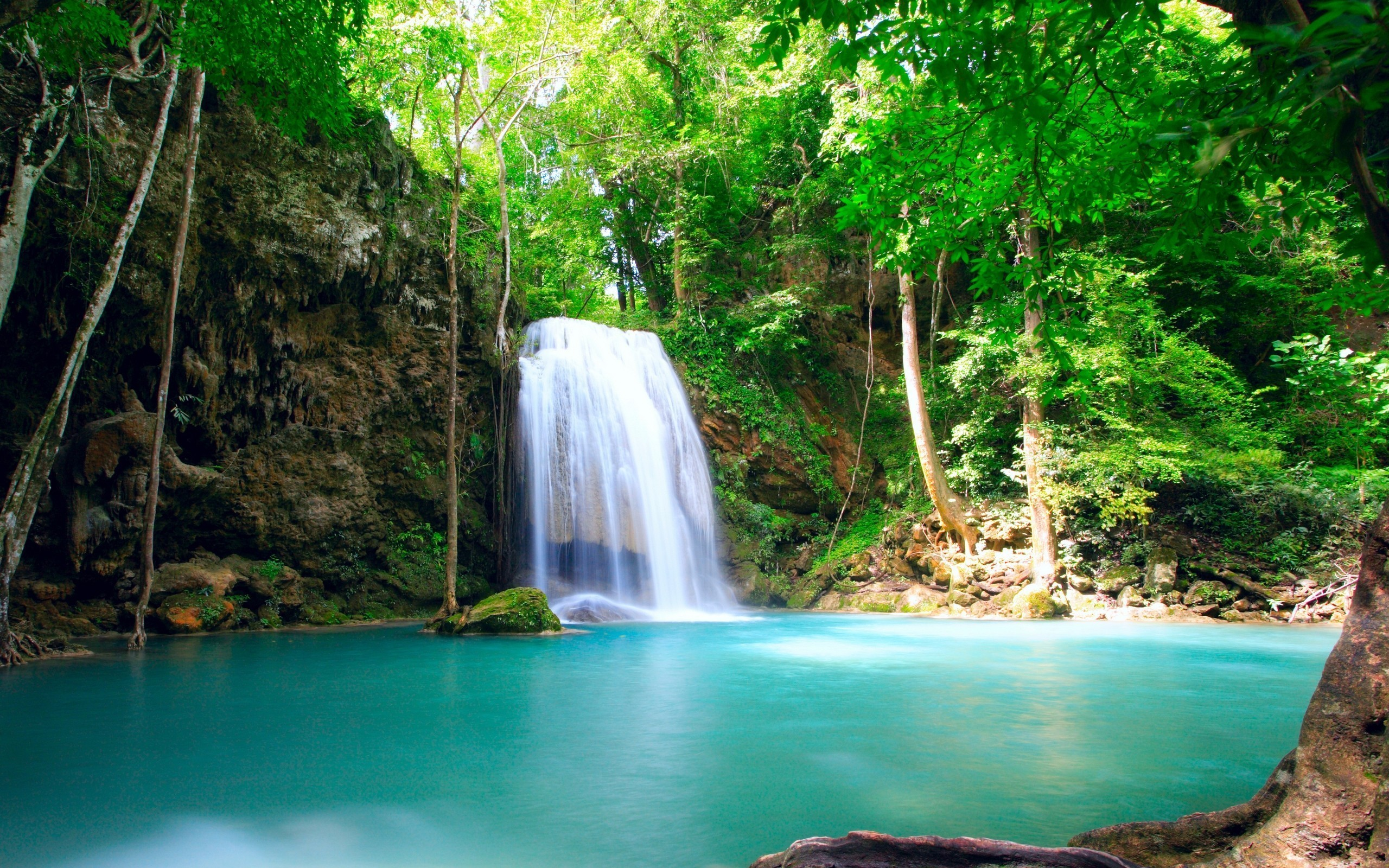 Find out: Beautiful Waterfall HD Background wallpaper on  https://hdpicorner.com