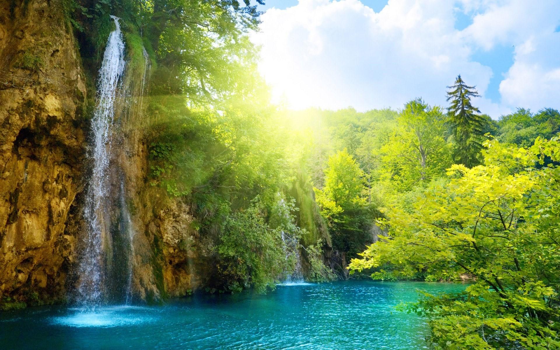 waterfall free computer wallpaper