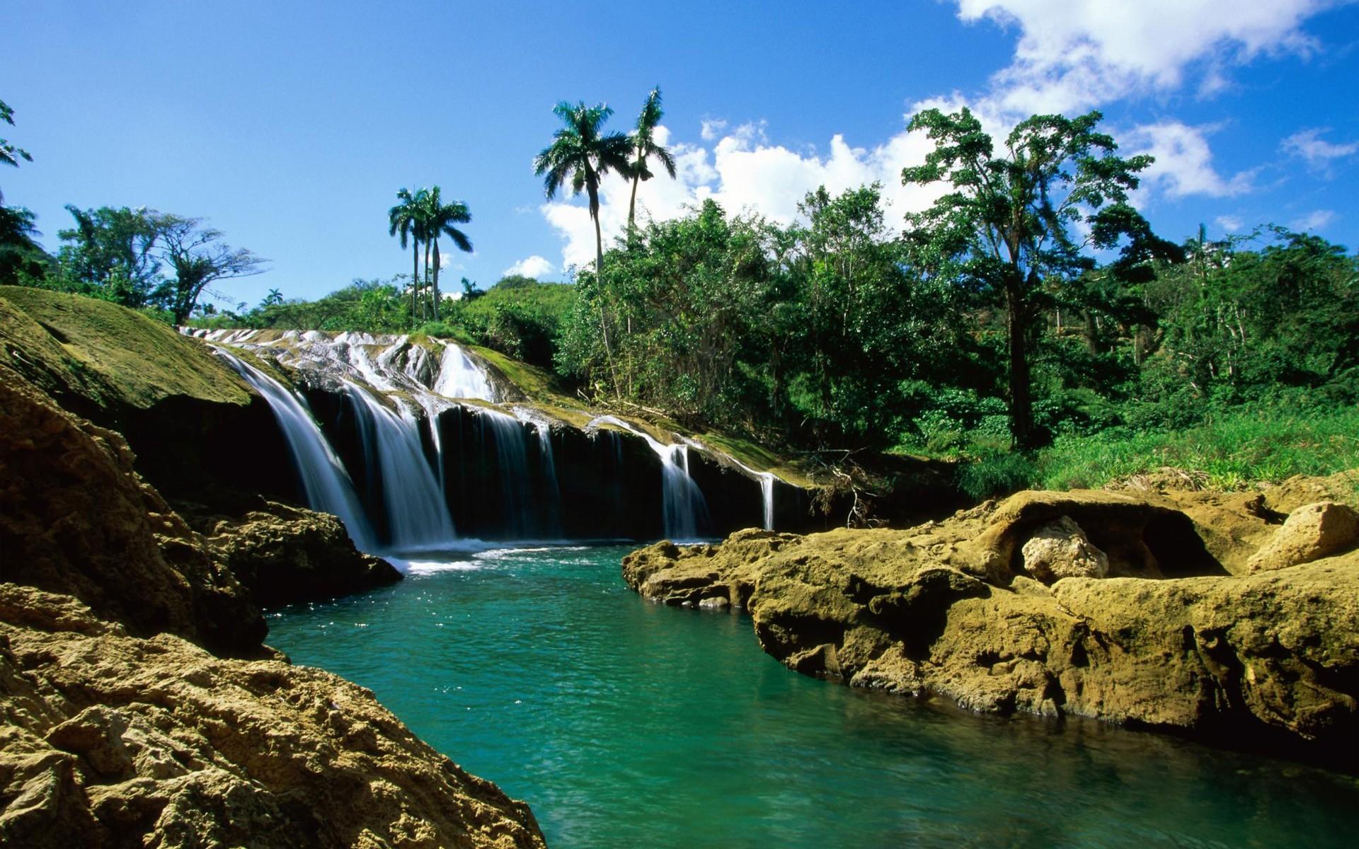 island waterfall image pc