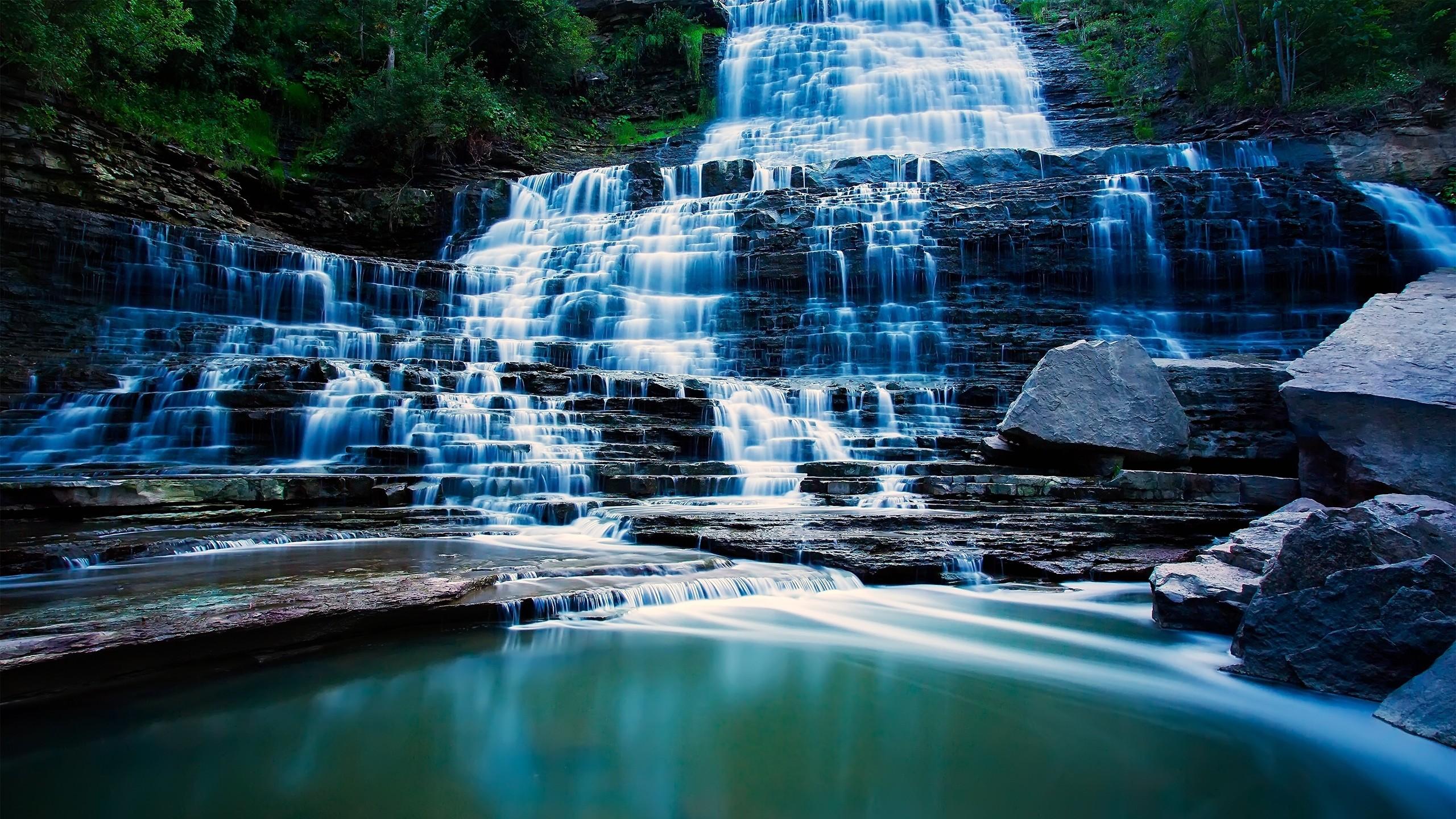 Wallpaper waterfall, river, beautiful