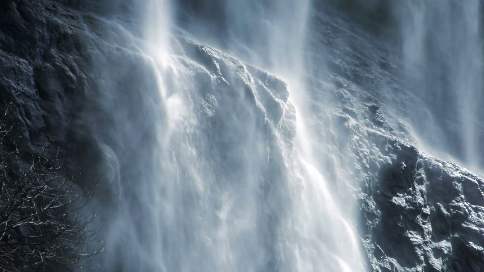 waterfall background. spring water. source. fresh clean.waterfall slow  motion Stock Video Footage – VideoBlocks