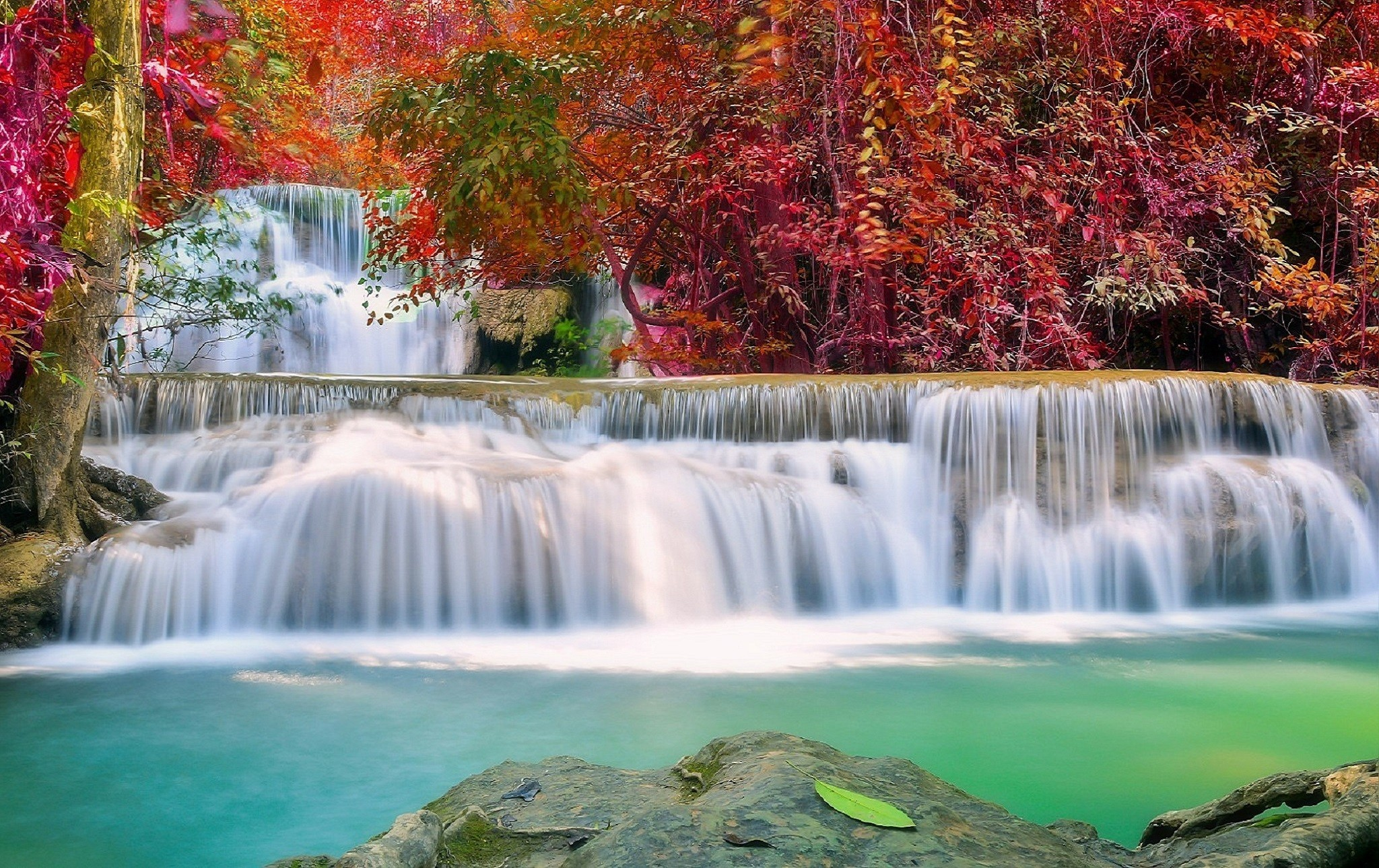 Waterfalls: Waterfall Autumn Photography Paradise Plants Love .