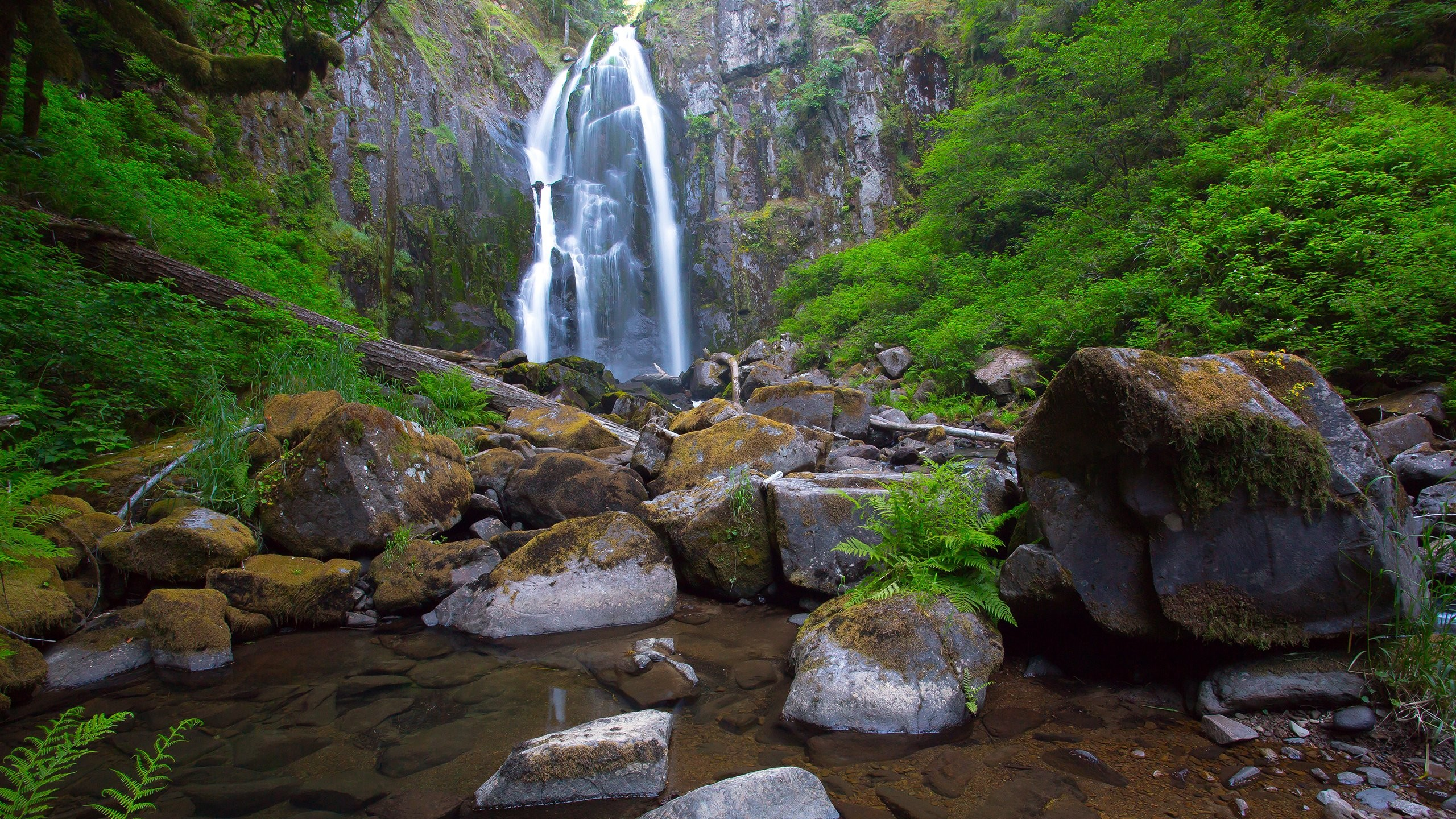 Nature Background Stones Waterfall Rocks
