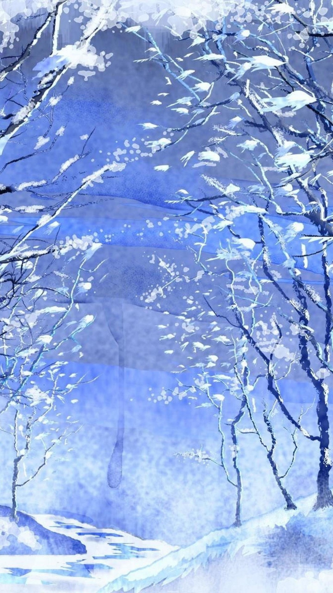 Winter Illustration. iPhone 6s Plus. Download 0