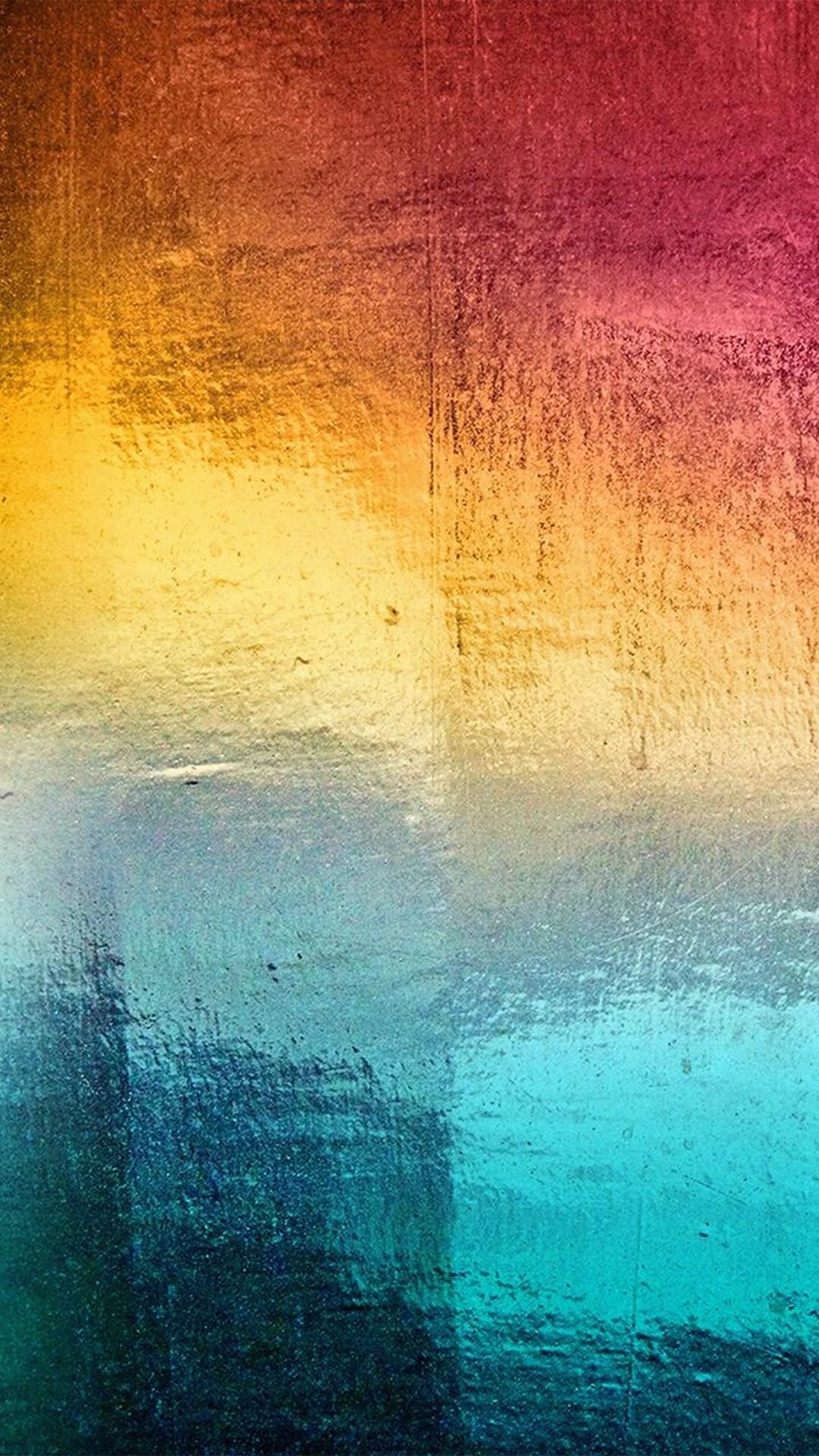 Samsung Rainbow Art Window Ice Winter Pattern iPhone 6 wallpaper