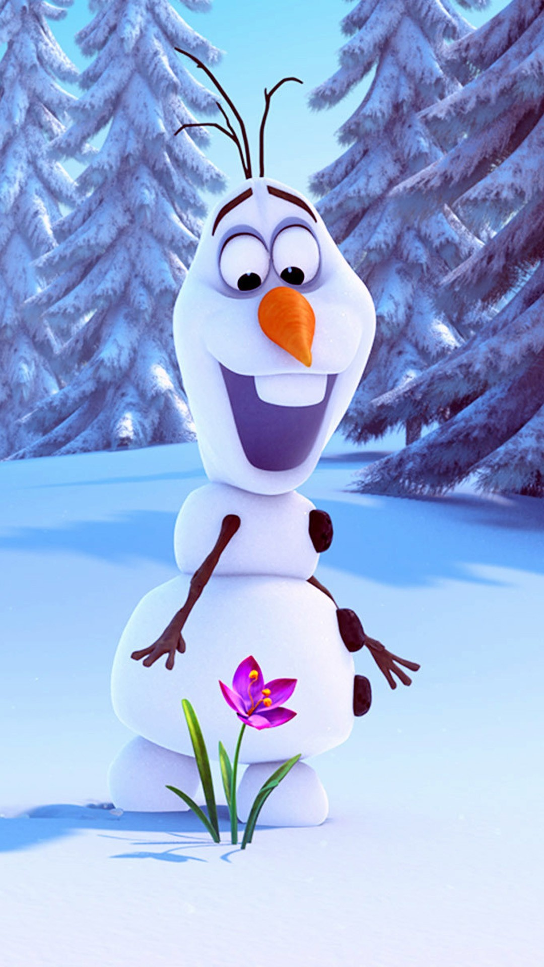 Olaf Frozen iPhone 6 plus wallpaper for 2014 Halloween – Flower, Snow  Trees, Wonderland