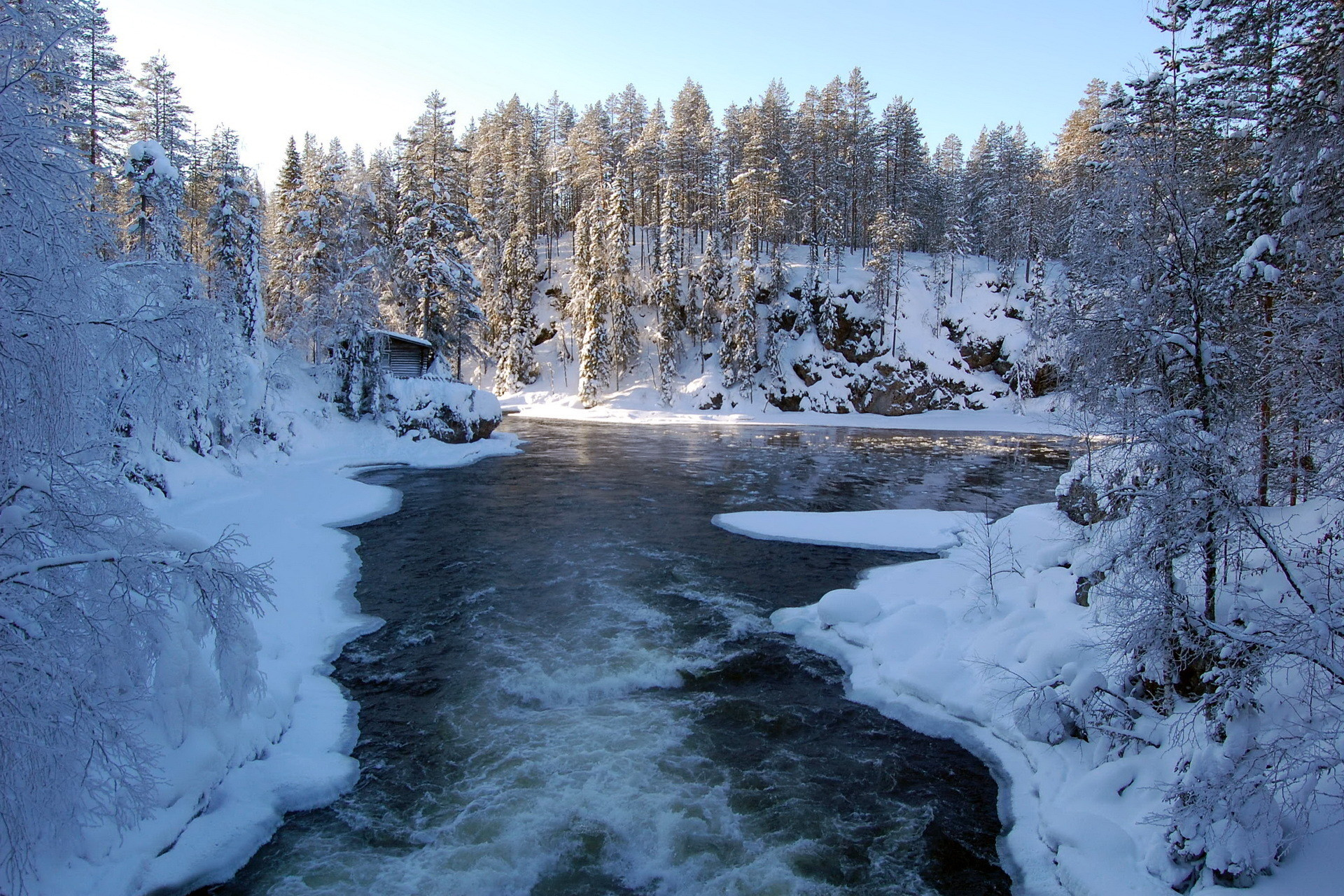 landscape landscapes nature winter seasons snow forest scenic scenery