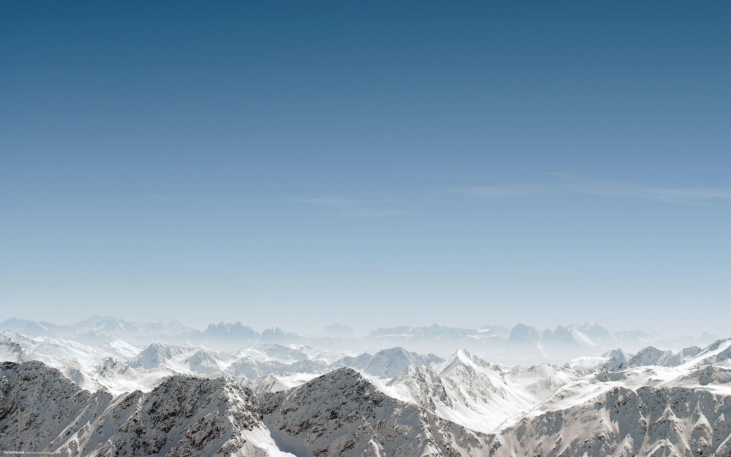 Wallpaper mountains, simple, sky, blue sky, snow desktop wallpaper .