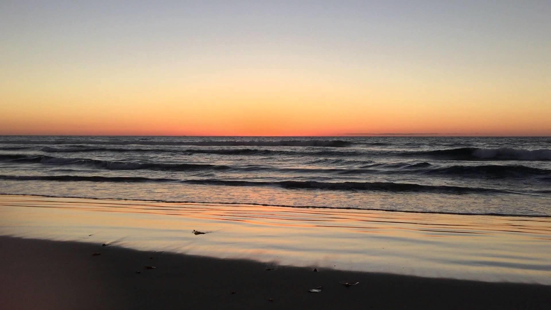 Video Background Beach Sunset