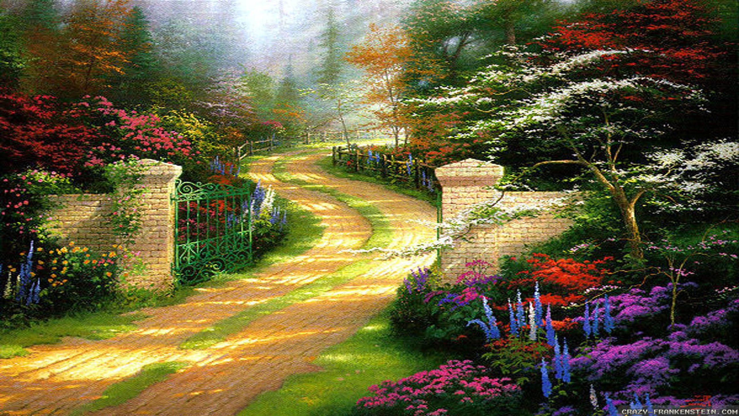 Wallpaper: Spring gate Spring nature wallpapers. Resolution: 1024×768    1280×1024   1600×1200. Widescreen Res: 1440×900   1680×1050   1920×1200
